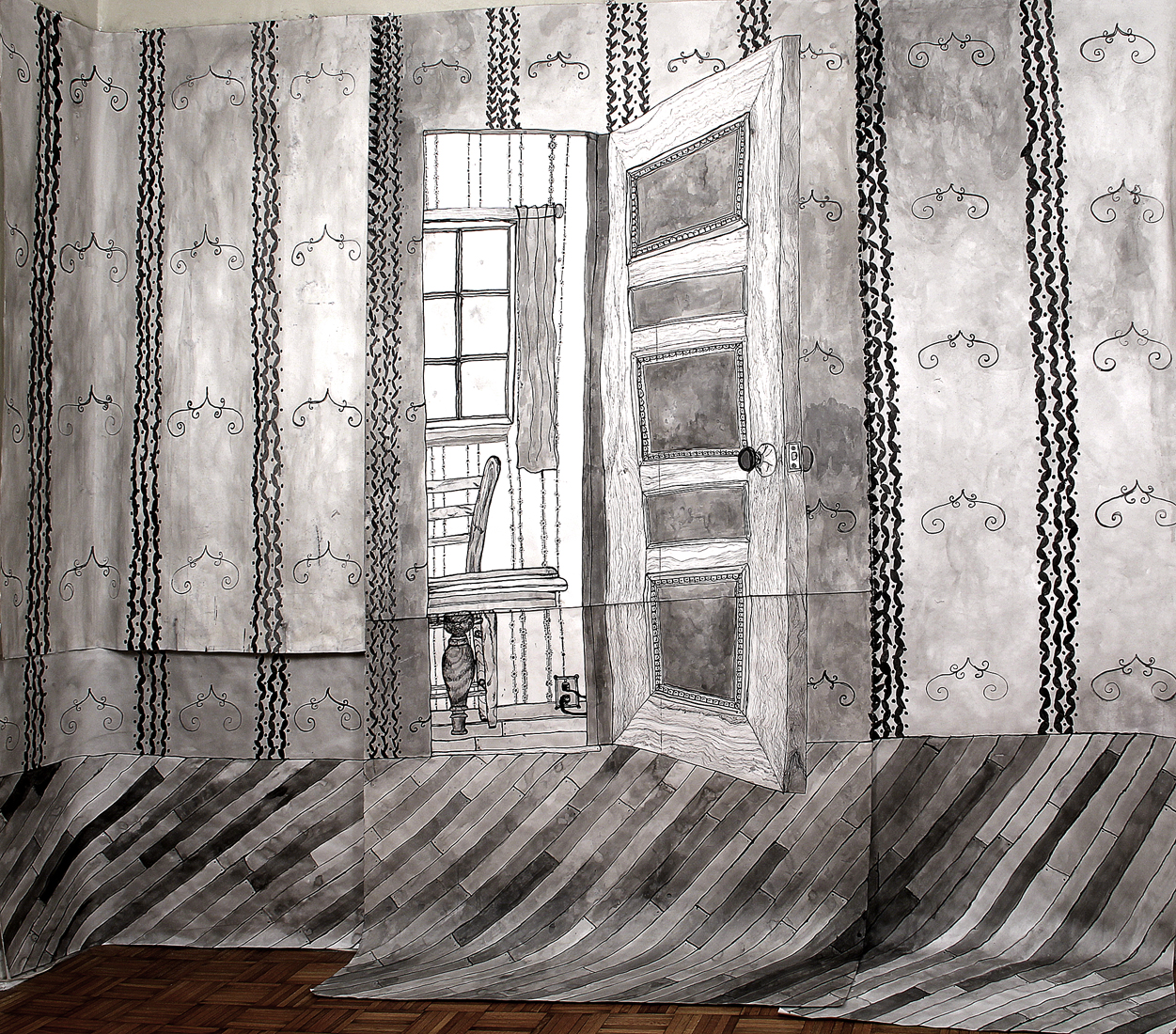 Side Room Expanse , 2013-15 ink on paper 9 x 9'
