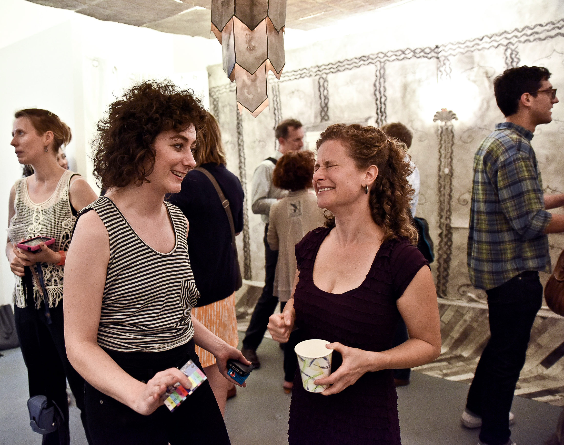 From l to r, Rhombus Space curator Katerina Lanfranco, artist Ashley Garrett and Carrie Rubinstein.