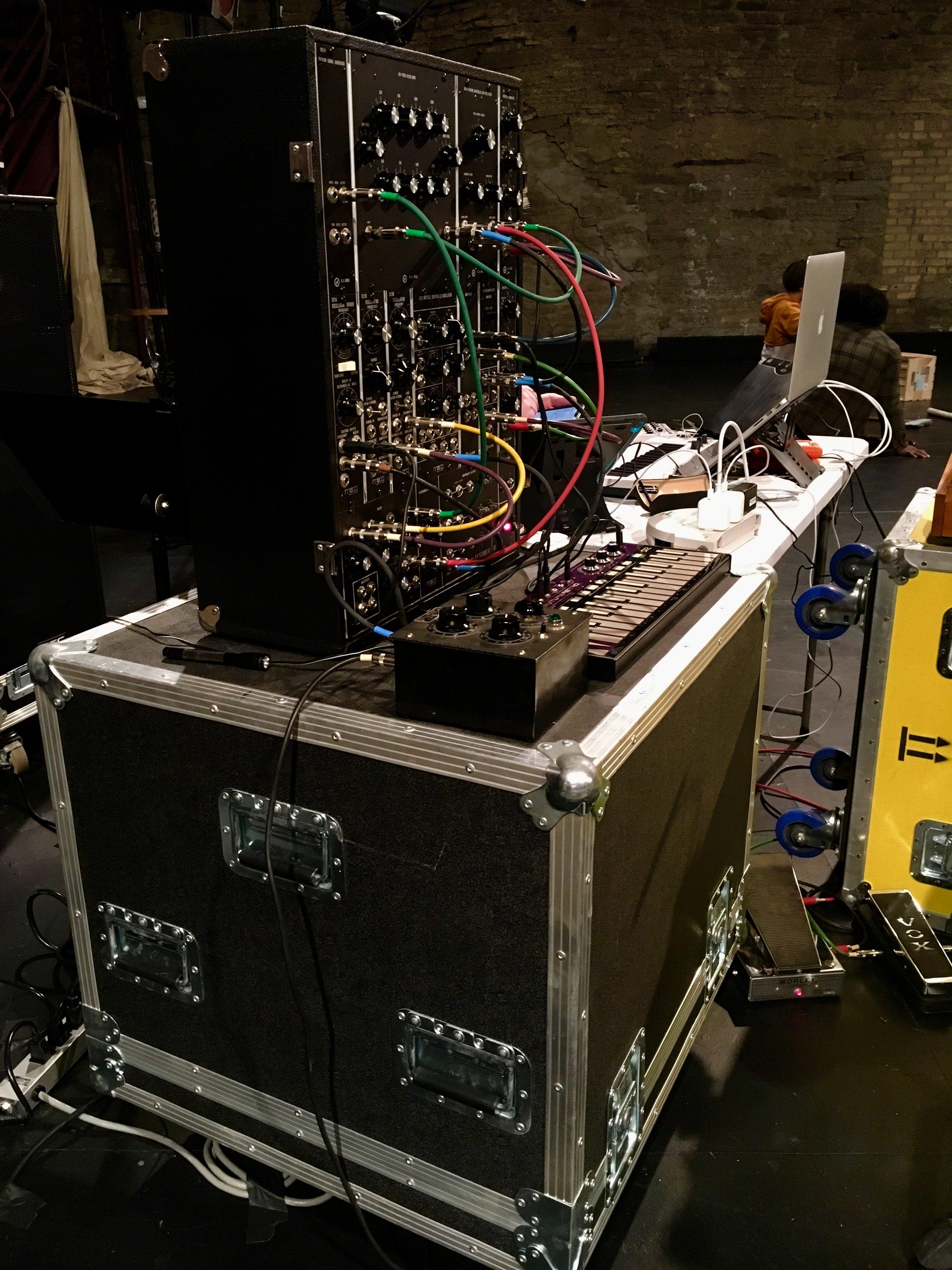 My beloved Moog Model 12 modular synthesizer.