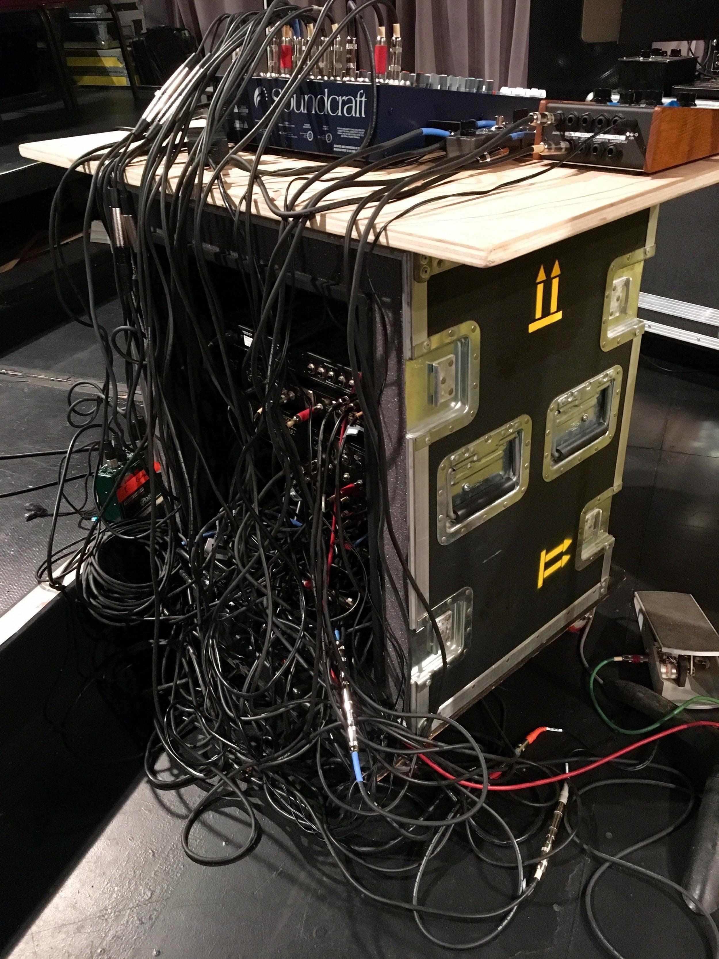 Rack wires.