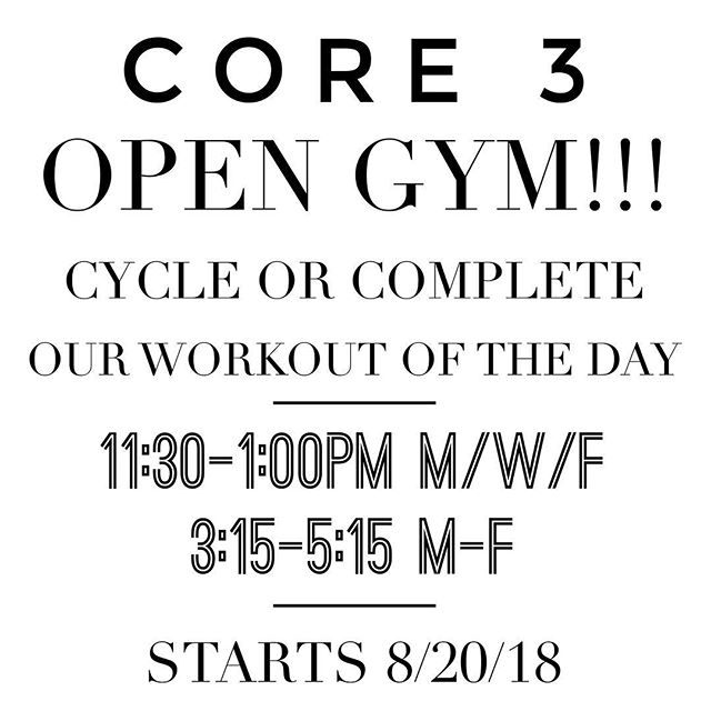 This starts TODAY!! pop in for a FUN and challenging workout! $5 or FREE for 3(65) members. Sign up in MINDBODY or Text 314-494-6900 so we can set up your spot!