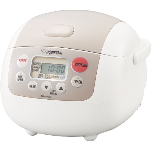 Zojirushi NS-VGC05 Micom 3-Cup (Uncooked) Electric Rice Cooker and Warmer
