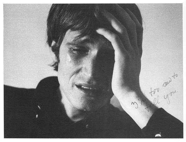 I'm too sad to tell you  — Bas Jan Ader