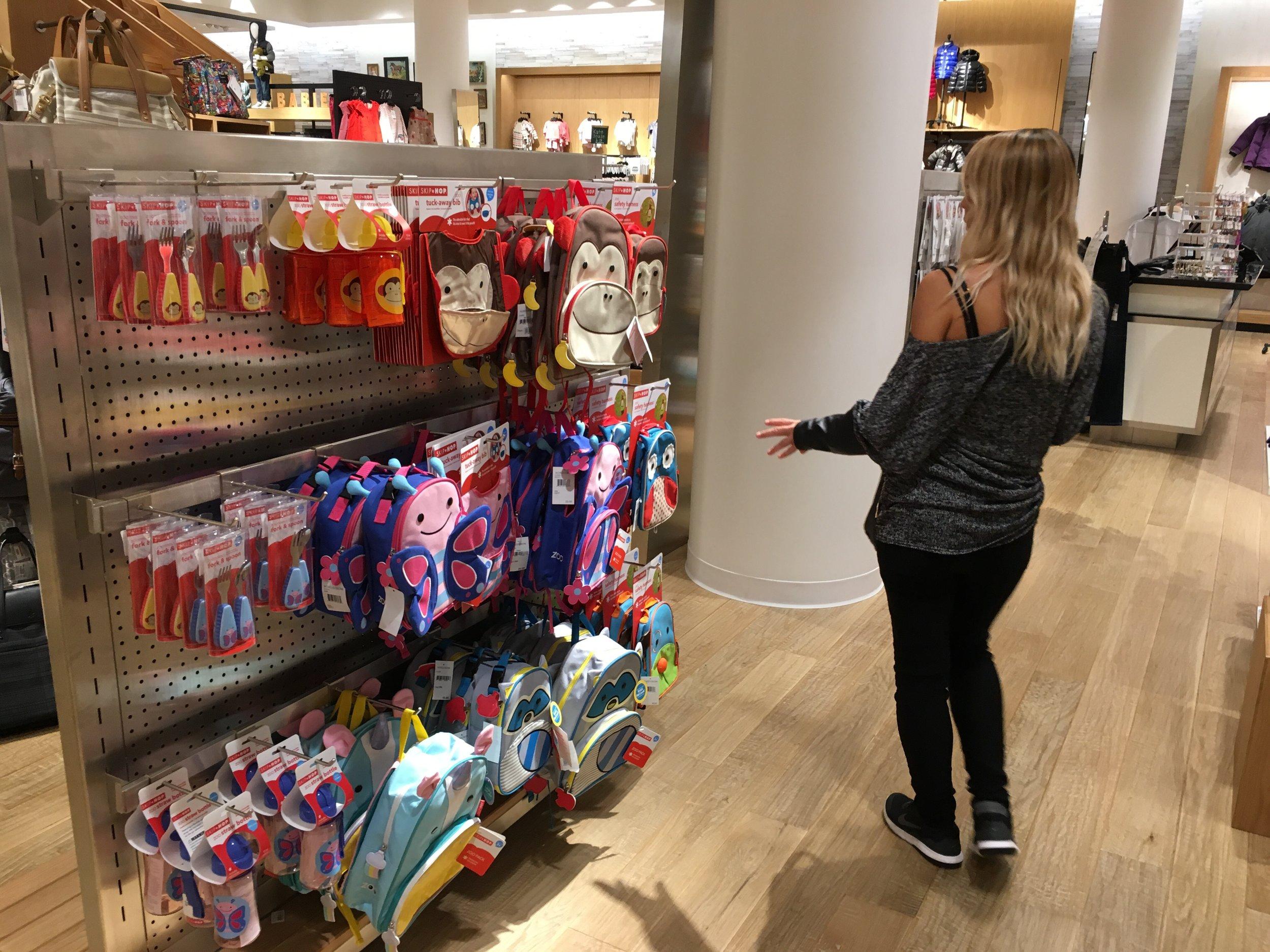 Baby gift shopping.