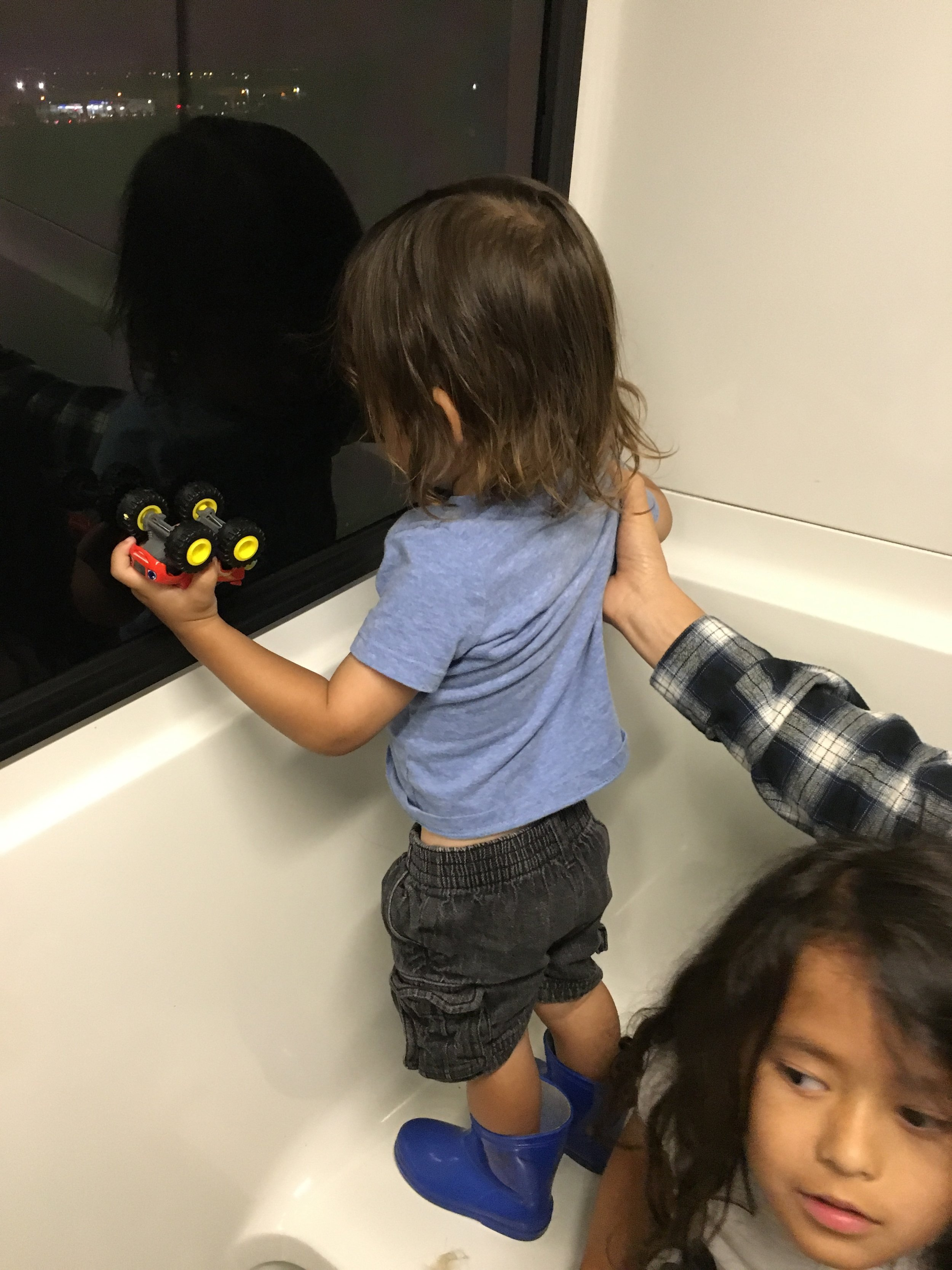 Tried to stoke my boy out , and give him a monorail ride since he likes trains.