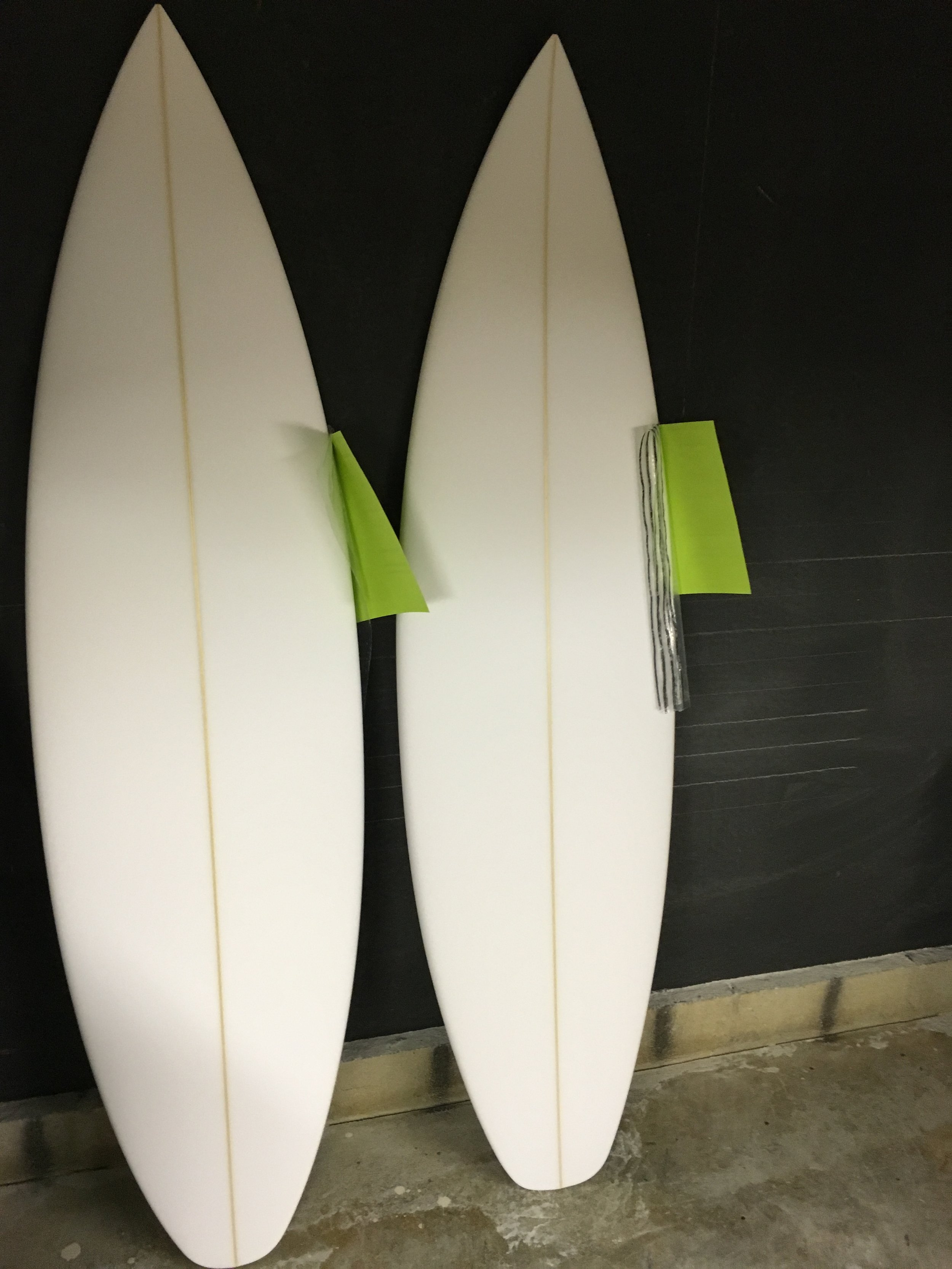 Some R and D boards. Small changes can make the difference . These 2 making changes in a 2 cm wide by 1/8 high area of foam.