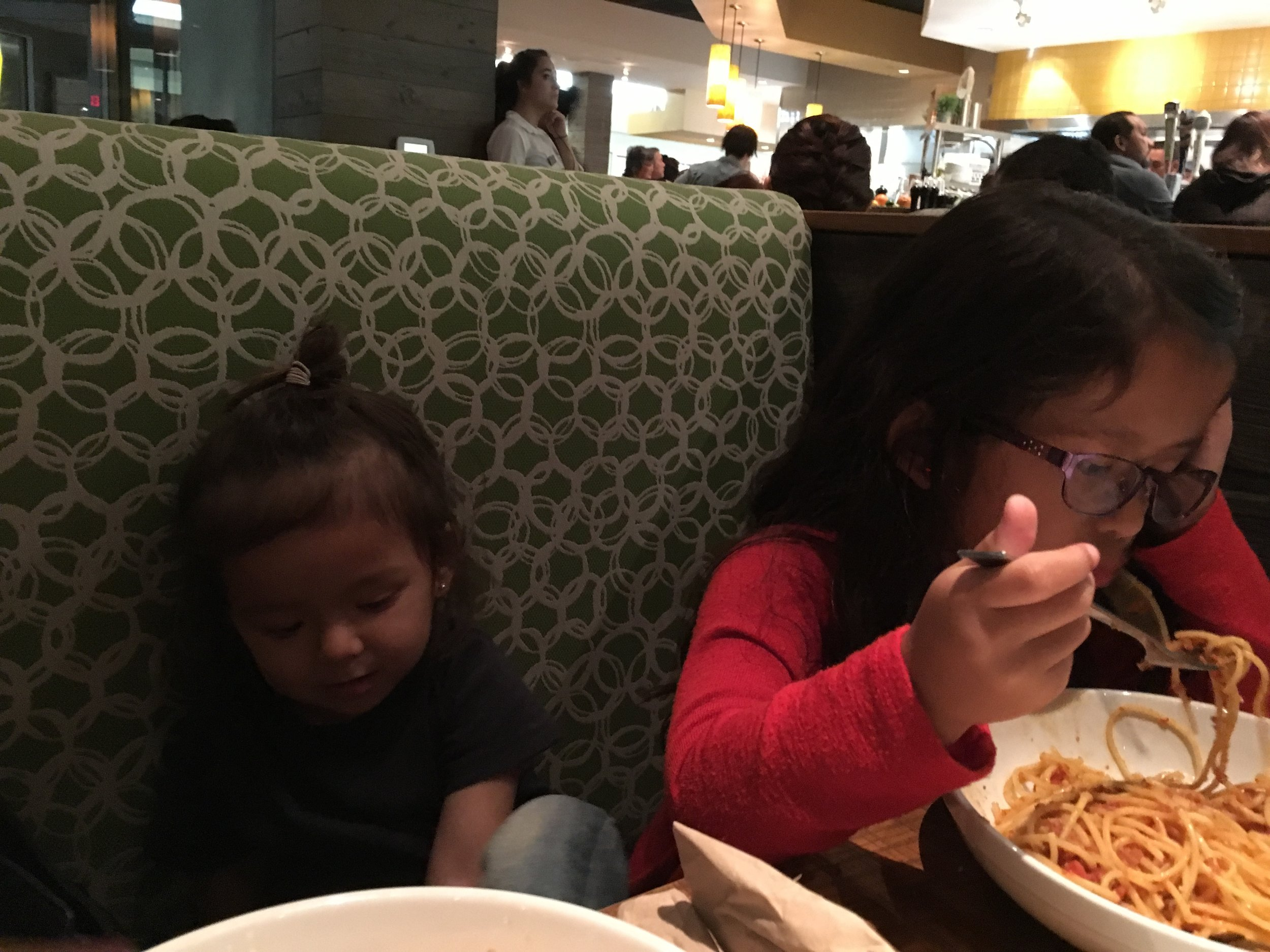 Quality time dinner.