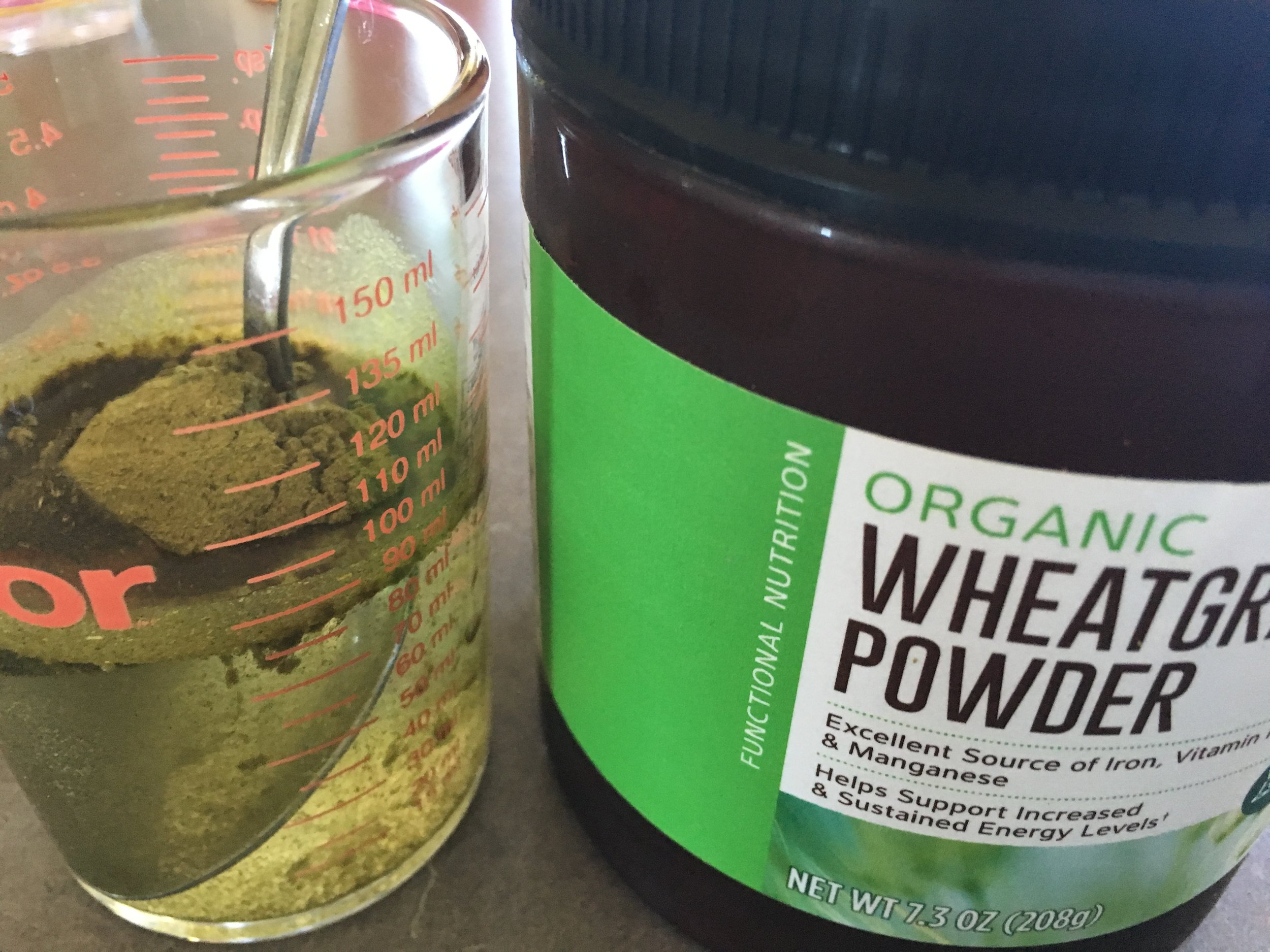 Feeling great by getting to a more alkaline state with wheatgrass in the AM.