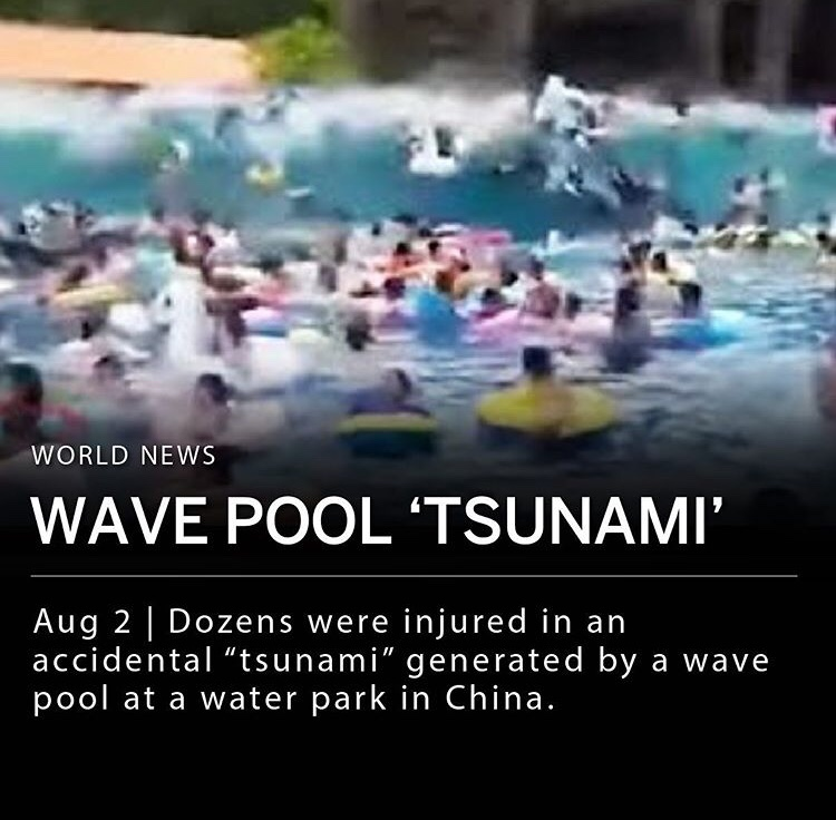 Thought this was a joke at first. If you didn't surf that would be a scary wave, especially for kids.
