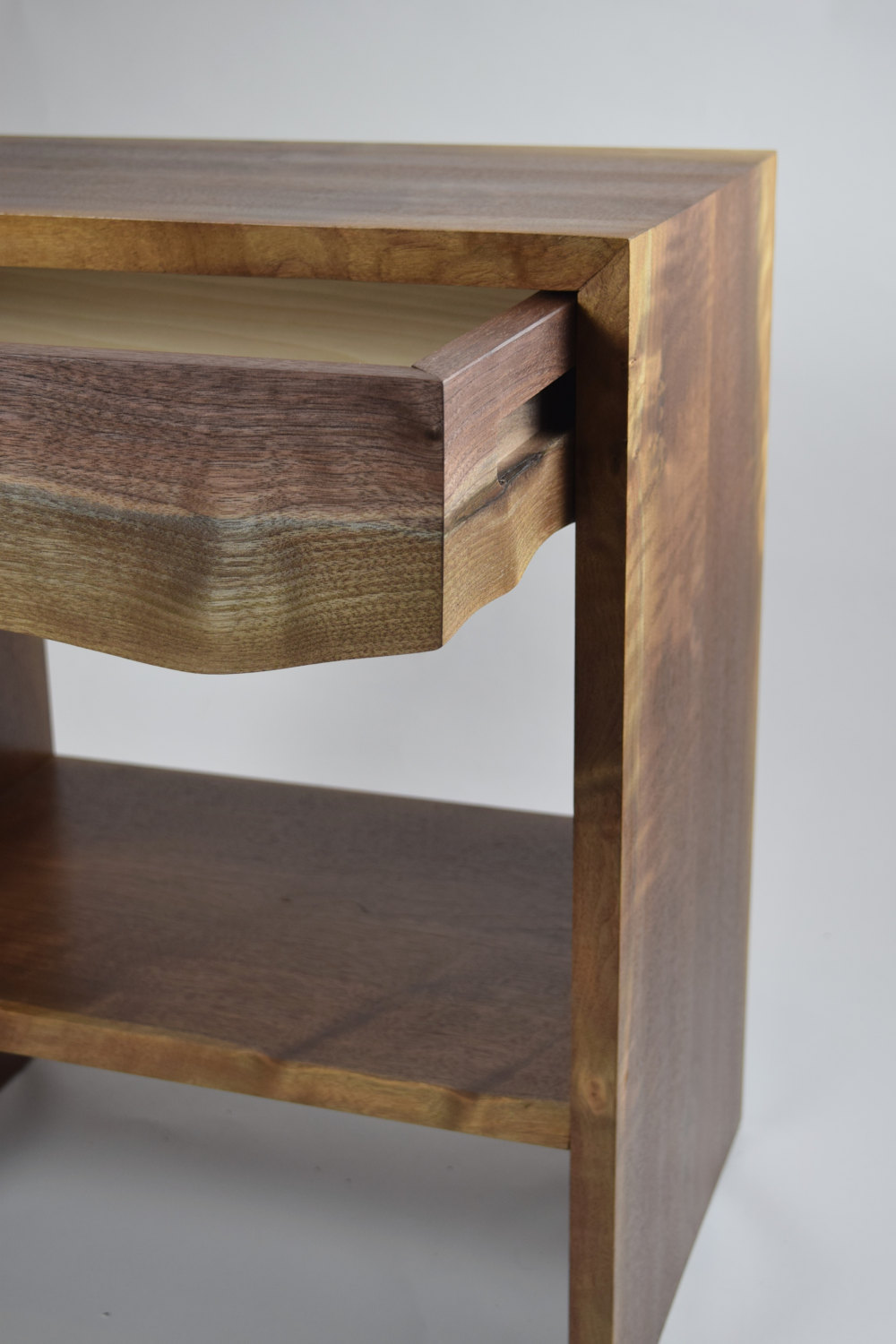 Live Edge Waterfall End Table Nightstand Boundary Fog Furniture