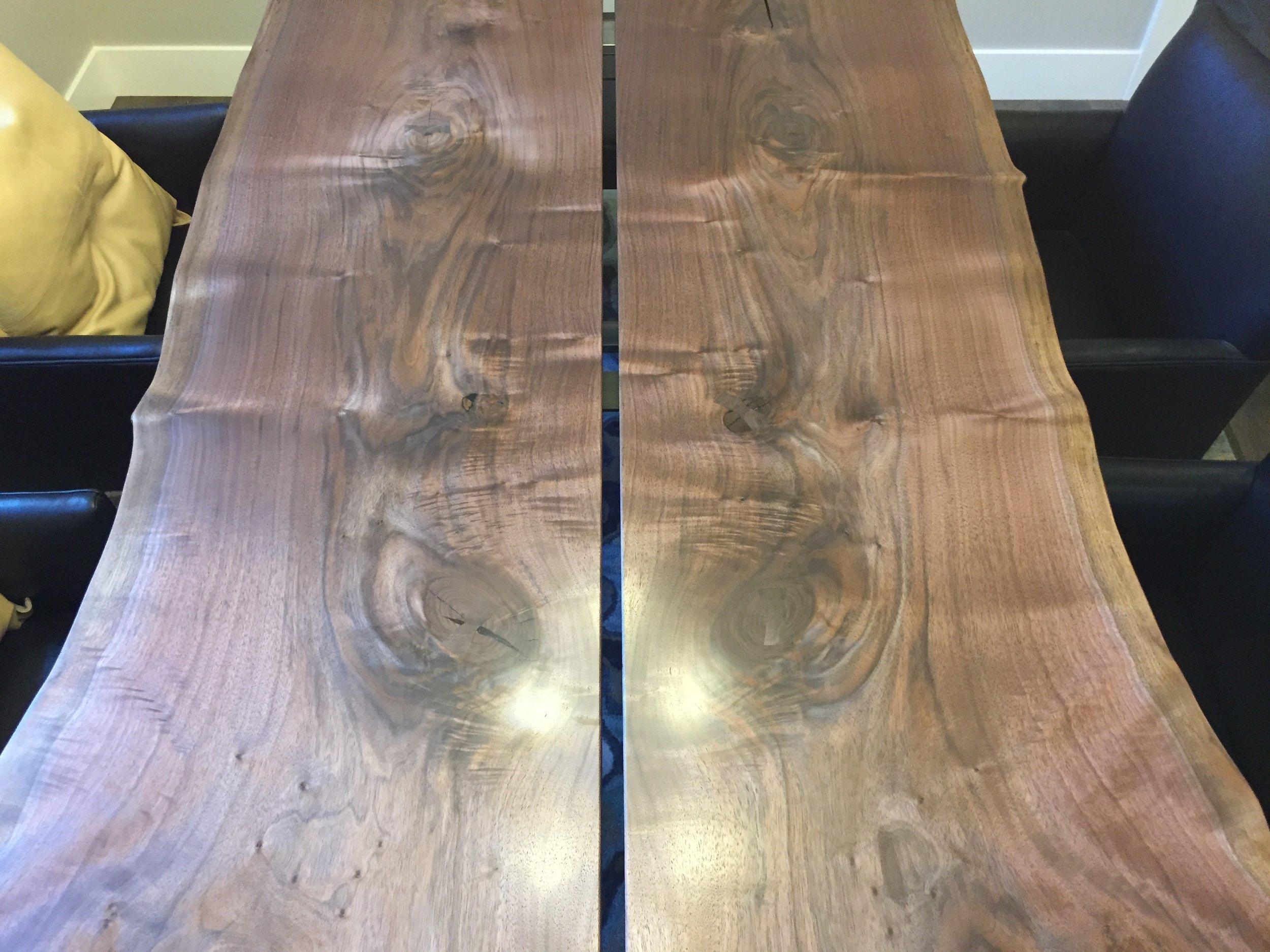 Two-slab Dining Table - Oregon Black Walnut
