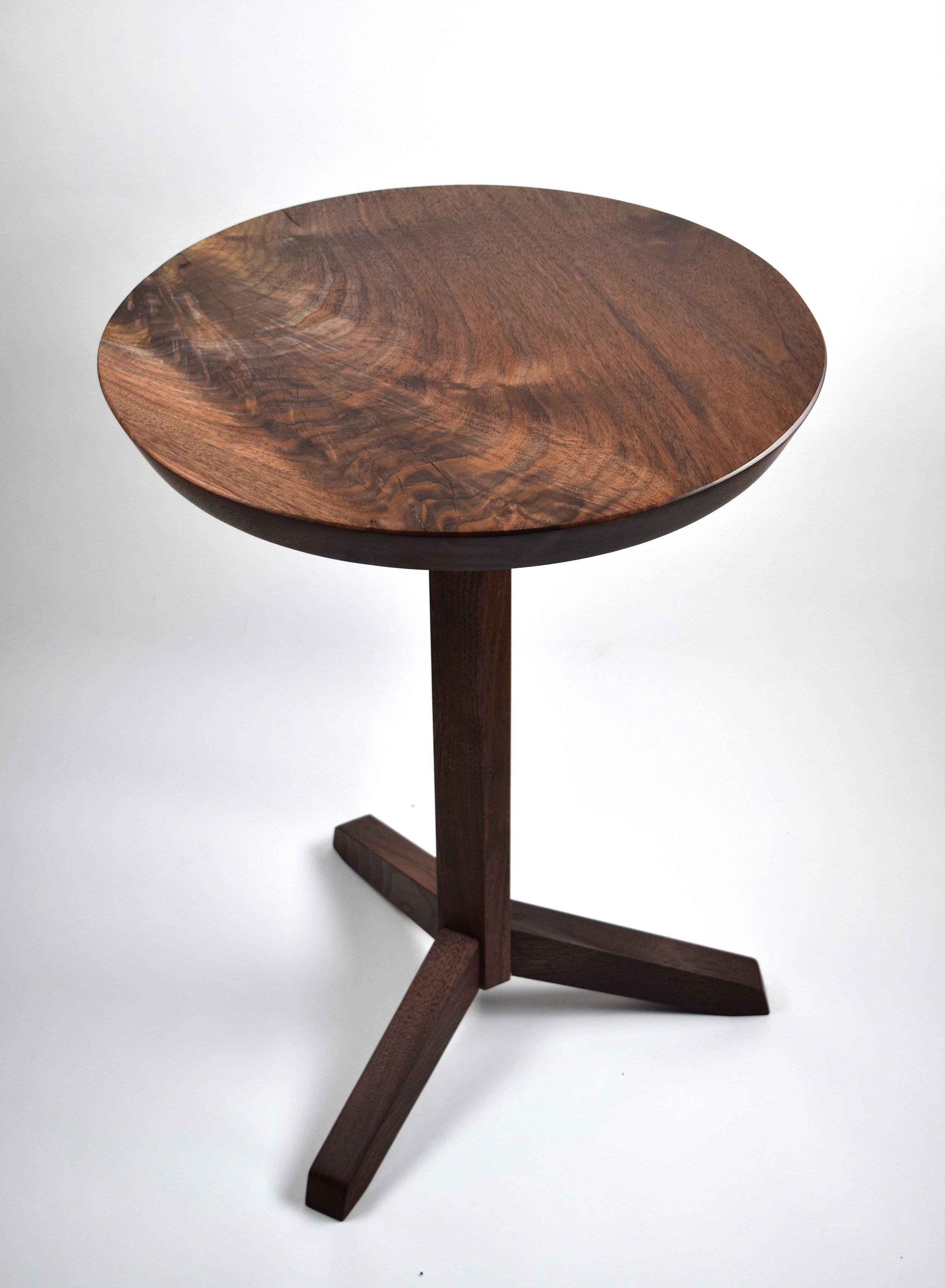 Modern Pedestal Table - Oregon Black Walnut
