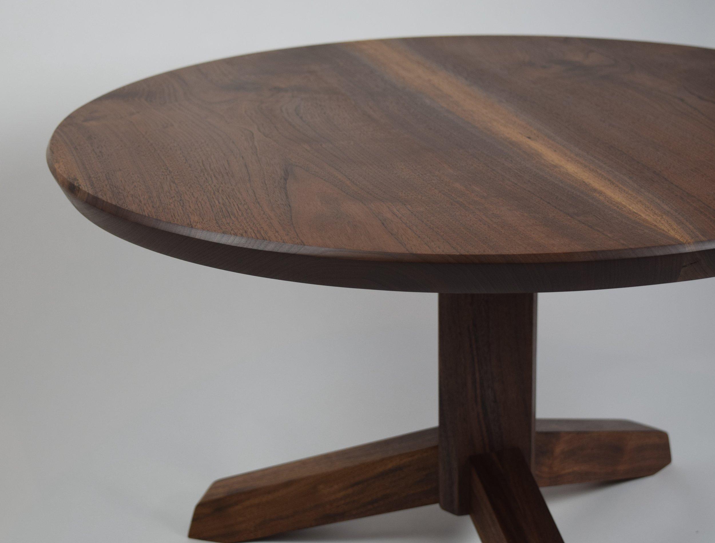 Modern Pedestal Coffee Table - Oregon Black Walnut