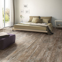 """Wood"" tile flooring"