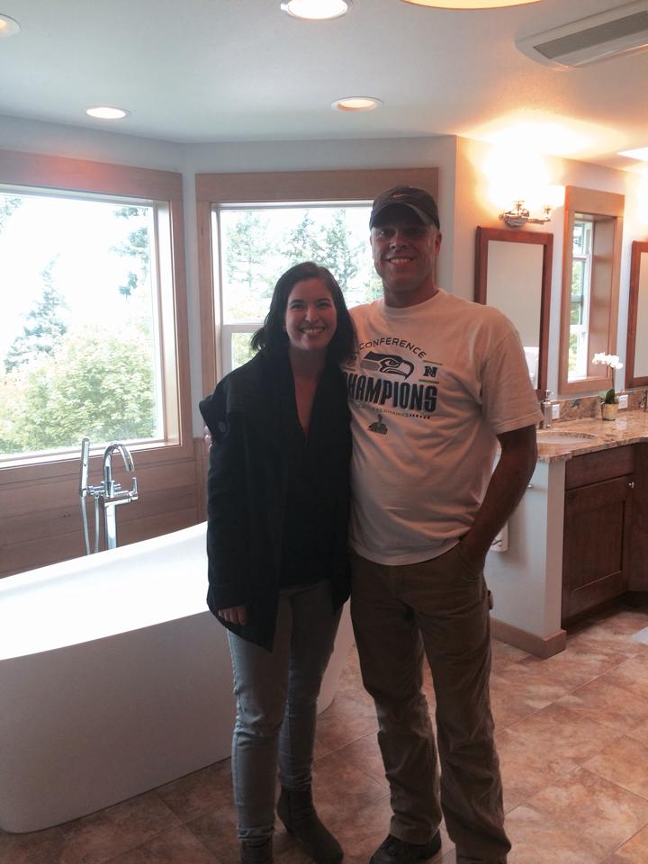 Here I am, so grateful to have worked with this AMAZING contractor!
