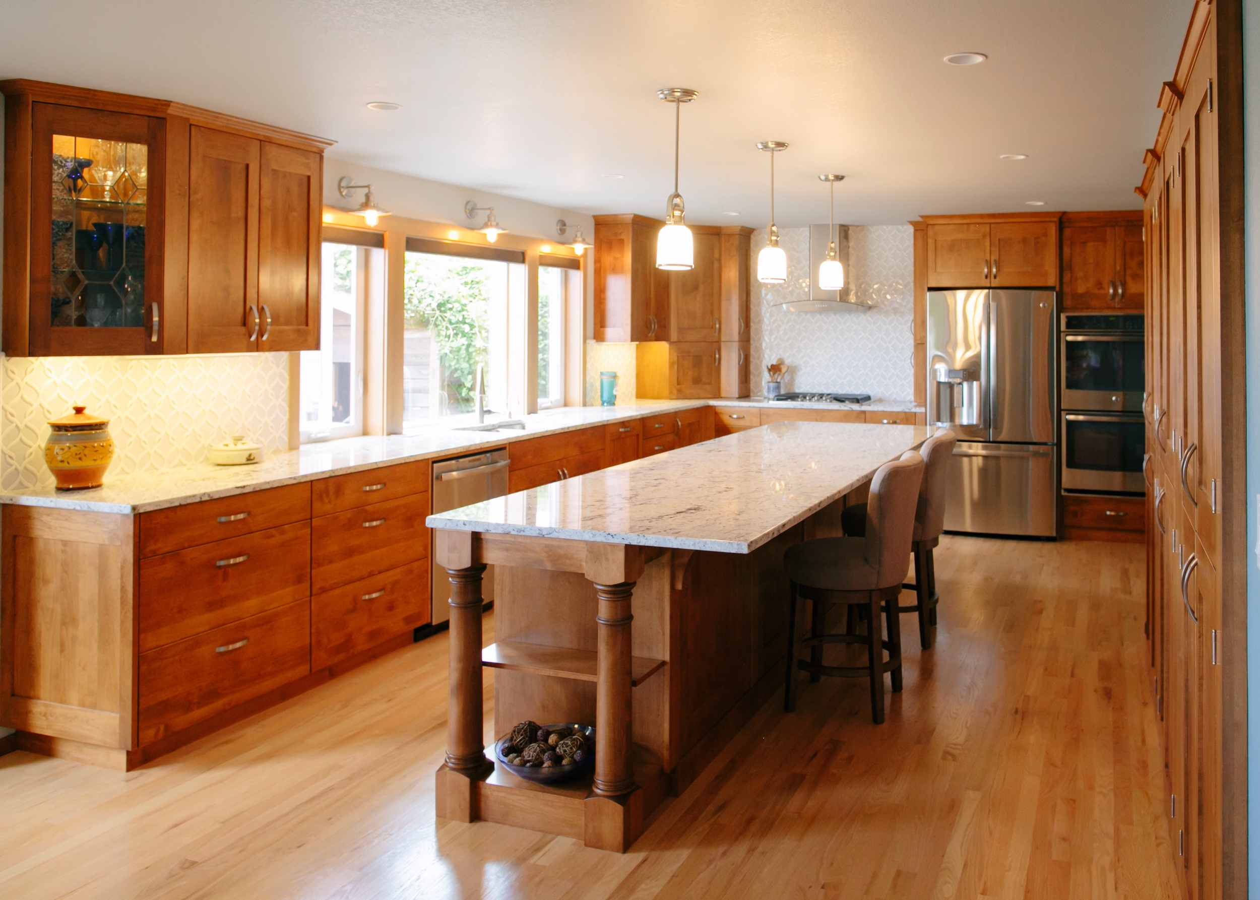 Here is an example of one of the largest kitchens I've done.