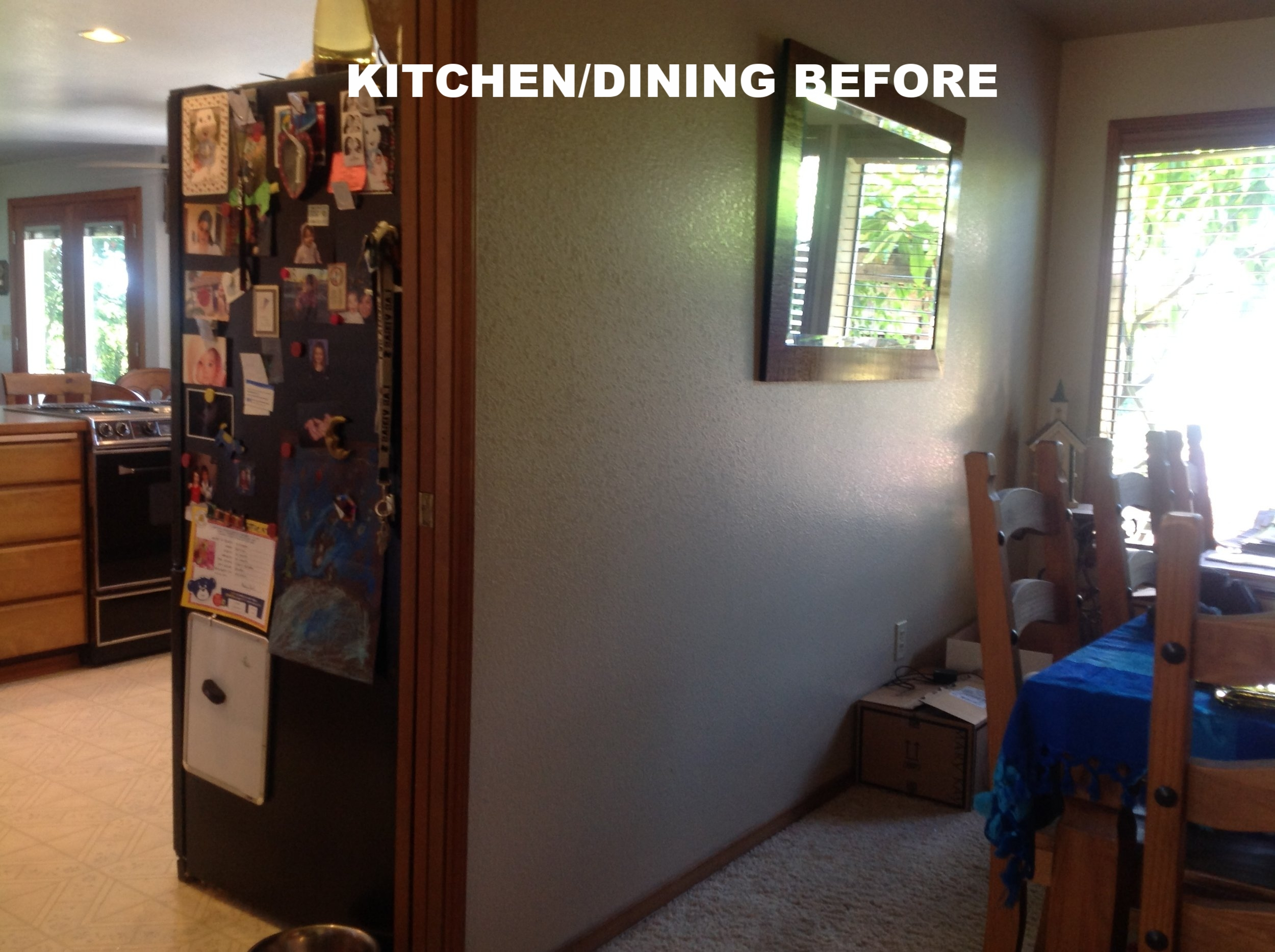 Initially, there was a formal dining room, in addition to the breakfast nook, which were nearly the same size. The formal dining room was an unnecessary waste of space.
