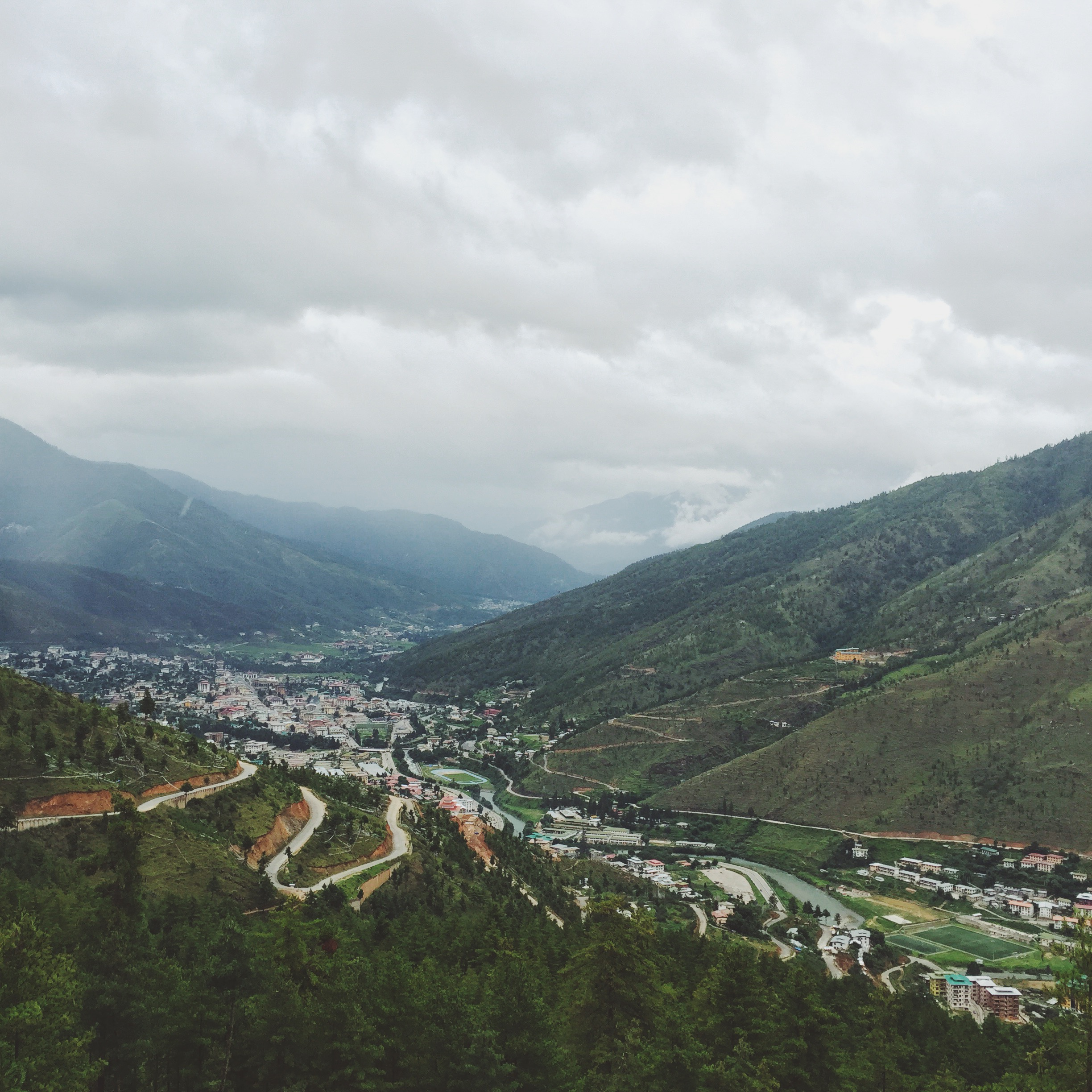 Overlooking Thimphu Valley