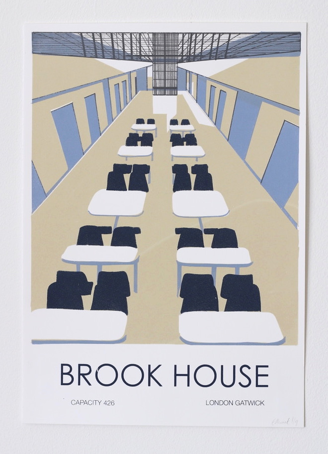 """""""Brook House"""" Screen print on Canaletto Paper, 297 x 420 mm, 2018, edition of 9"""