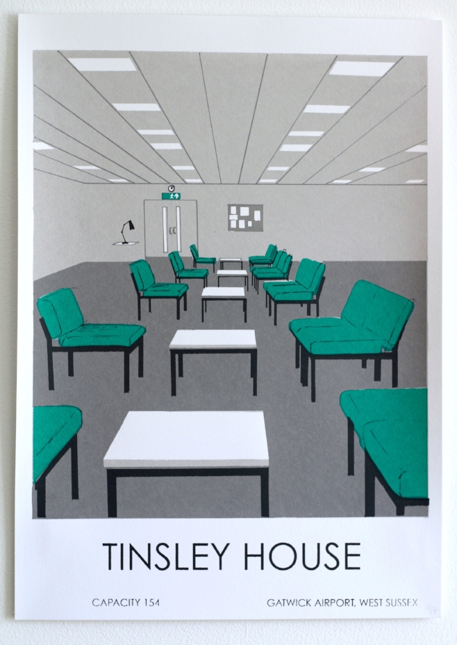 """""""Tinsley House"""" Screen print on Snowdon Cartridge Paper, 297 x 420 mm, 2018, edition of 17"""