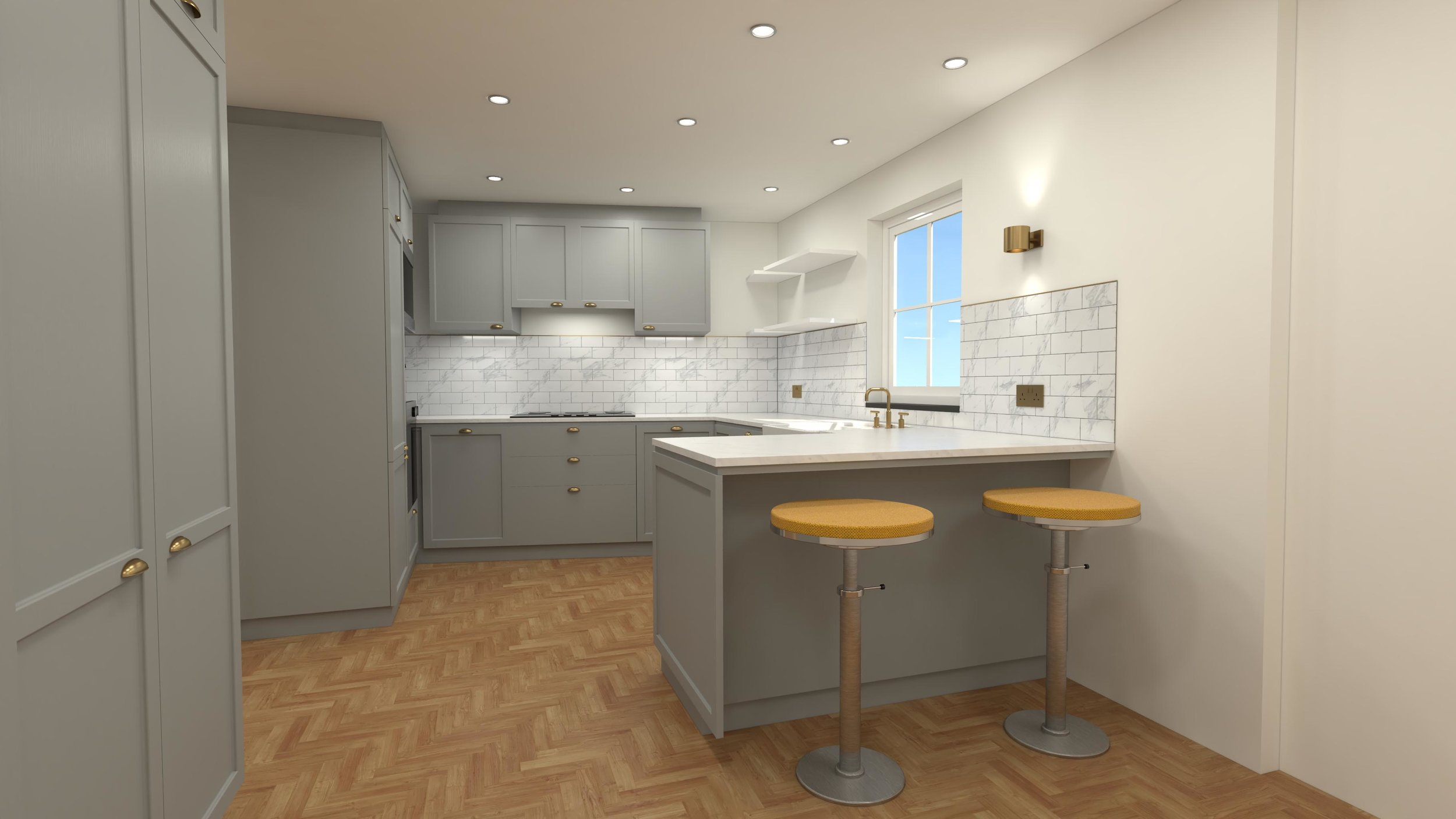 3D Kitchen Plan