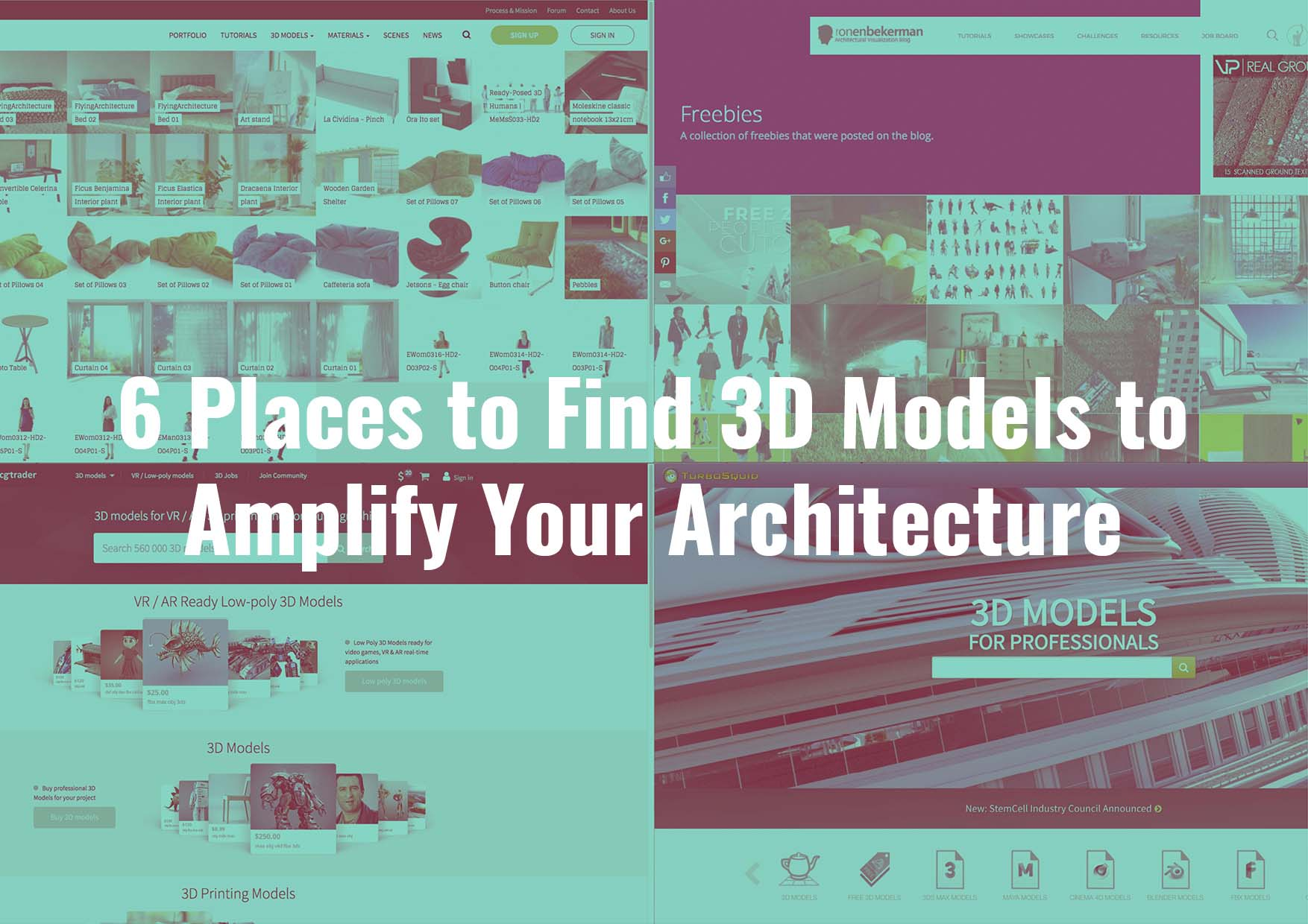 Find 3D Models to Amplify your Architecture