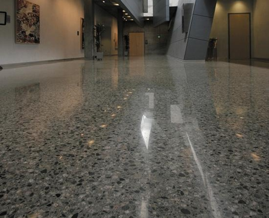 "FROM TIRED & DISTRESSED TO GLEAMING AND IMPRESSED - ""Satin Finish Concrete is one of the best companies we have used in Florida. Not only did they do an outstanding job on the polished concrete, they restored my sister's old Terrazzo floors and made them look brand new. This company is the real deal. I would recommend them to anyone! "" - Elizabeth J"