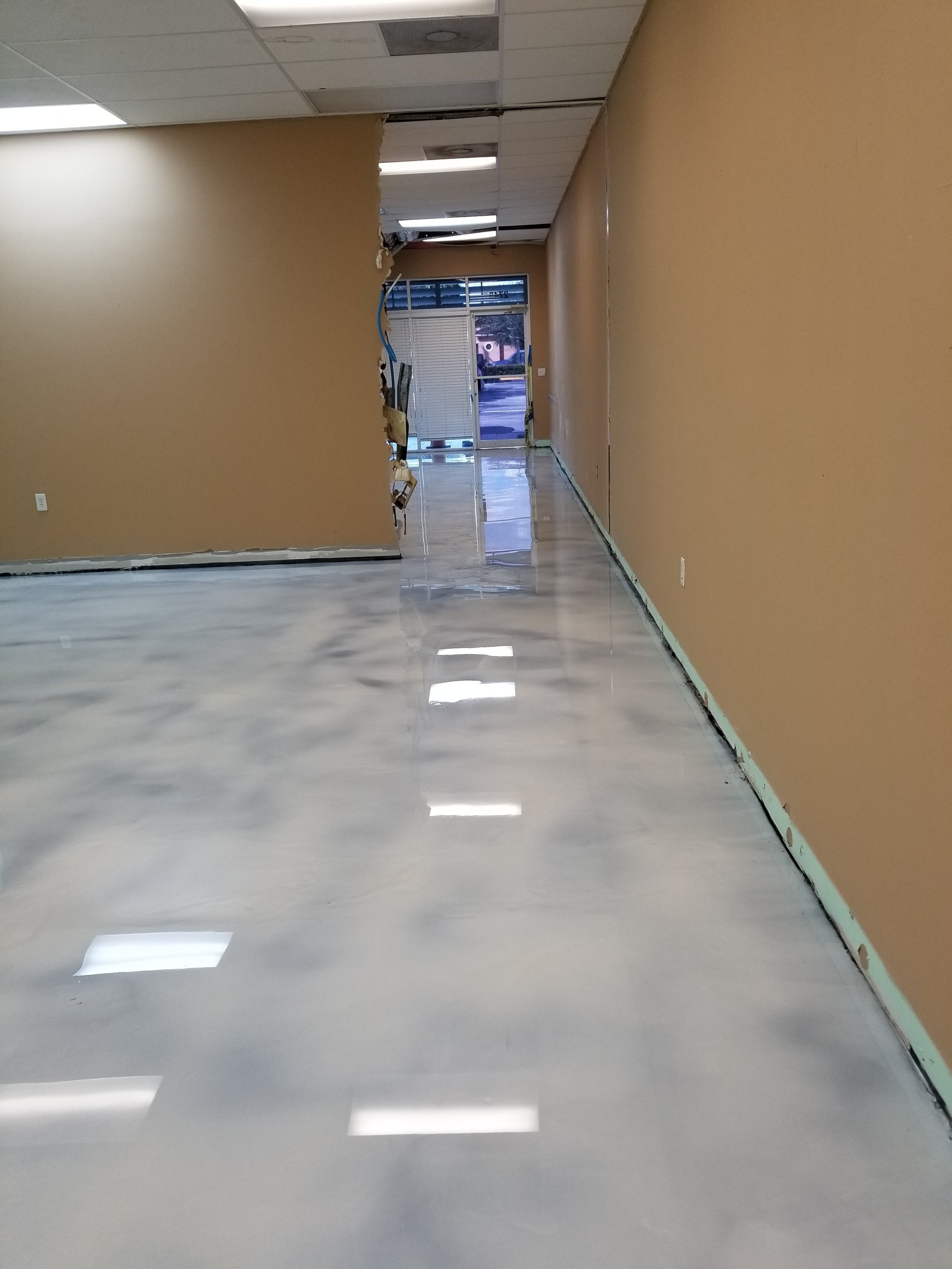 AFTER - Gleaming new concrete finishes to be proud of