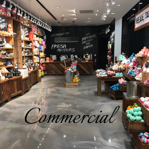 We provide bespoke premium epoxy floors for all businesses With hundreds of color possibilities and designs you will be amazed with the transformation. A few brands we have served: Lush Cosmetics, JC Penneys, Haverty's &  many more . We also provide restoration services for Marble & Terrazzo floors.  Find out more about commercial flooring .