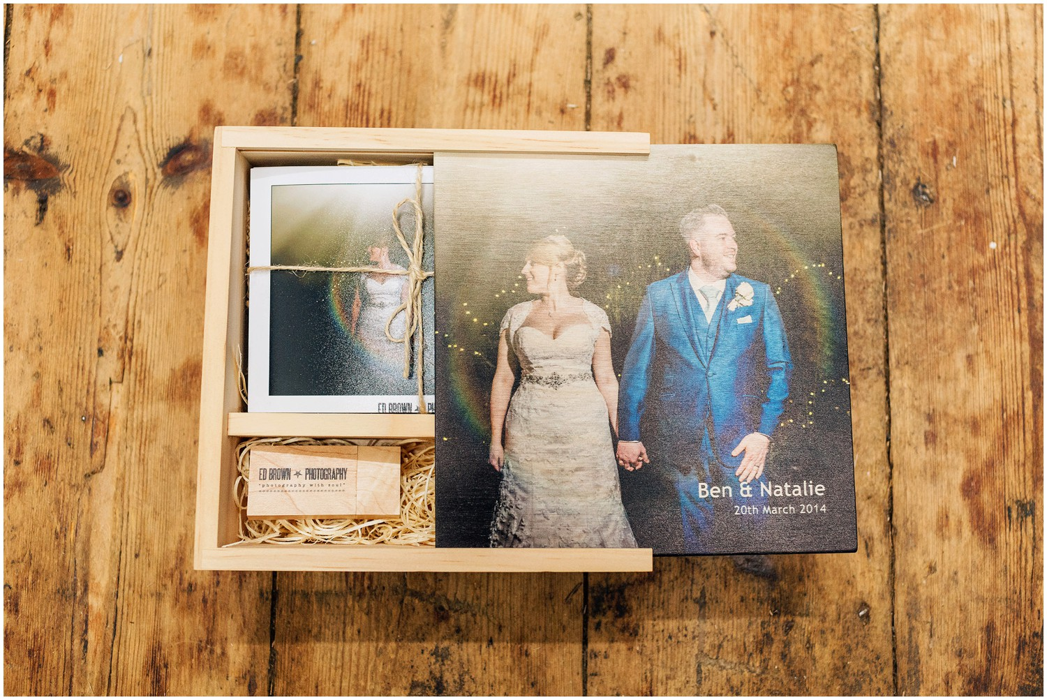 Personalised image USB box with prints