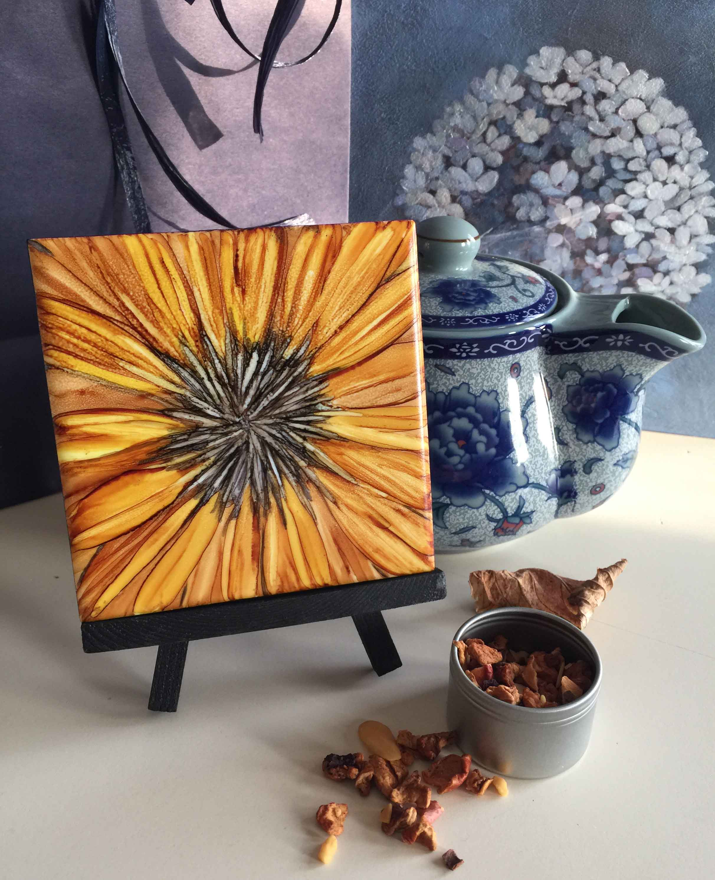 Creating with Alcohol Inks is unique, vibrant and fun. Using brushes, I'm excited to share how captivating it is to explore this medium on ceramic tile. Known for their vivid colours and intriguing patterns, we'll play with some techniques and discover just how endless the possibilities are.   Thursday May 31 , 2018, 6:30 to 9:00pm  Artworld Fine Art Gallery , 365 Evans Avenue, Etobicoke, Ontario M8Z 1K2, 416.620.0500 Register at http://www.artworldfineart.com/event/art-wine-paint-night-with-sandra-robson/