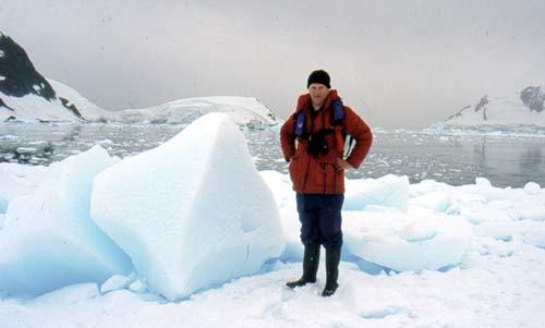 Jonathan Shackleton in the Antarctic.
