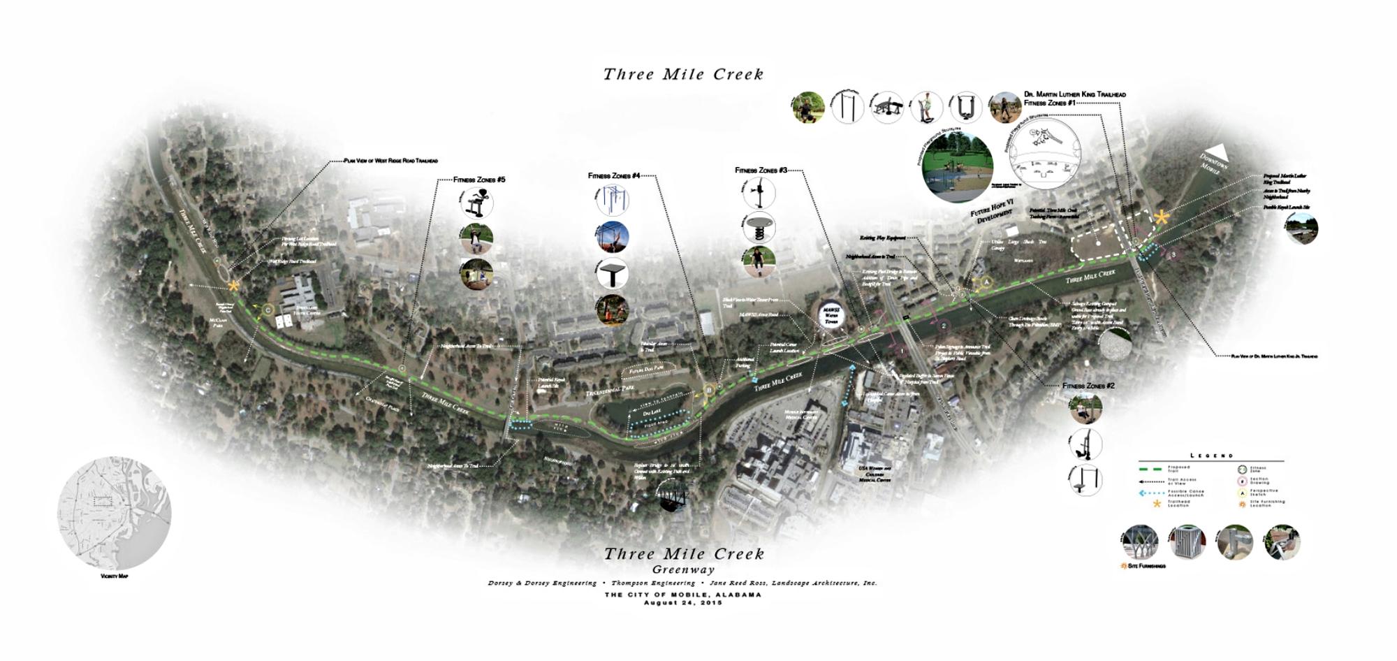 Proposed Three Mile Creek Greenway