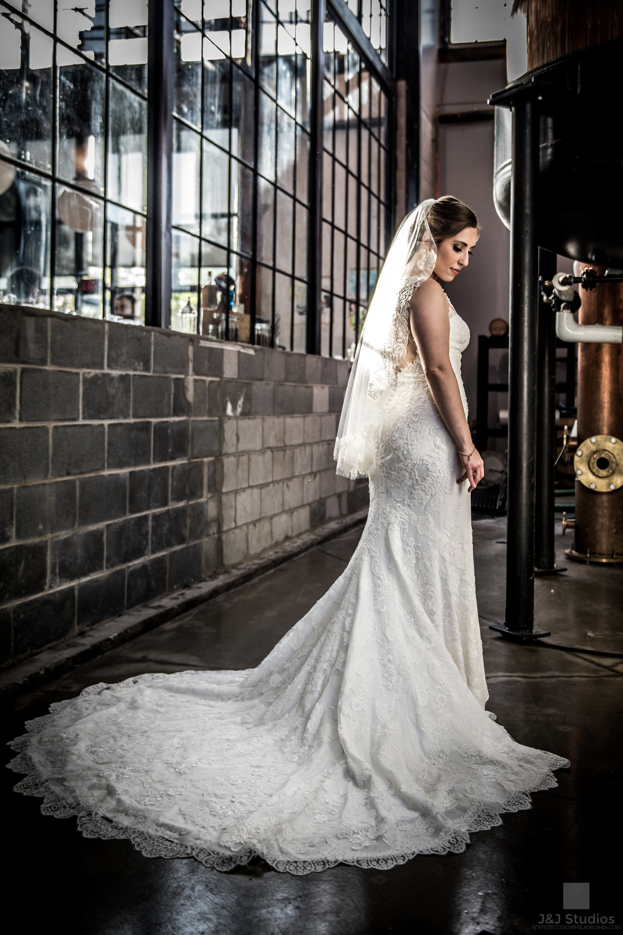 bride at philadelphia distilling