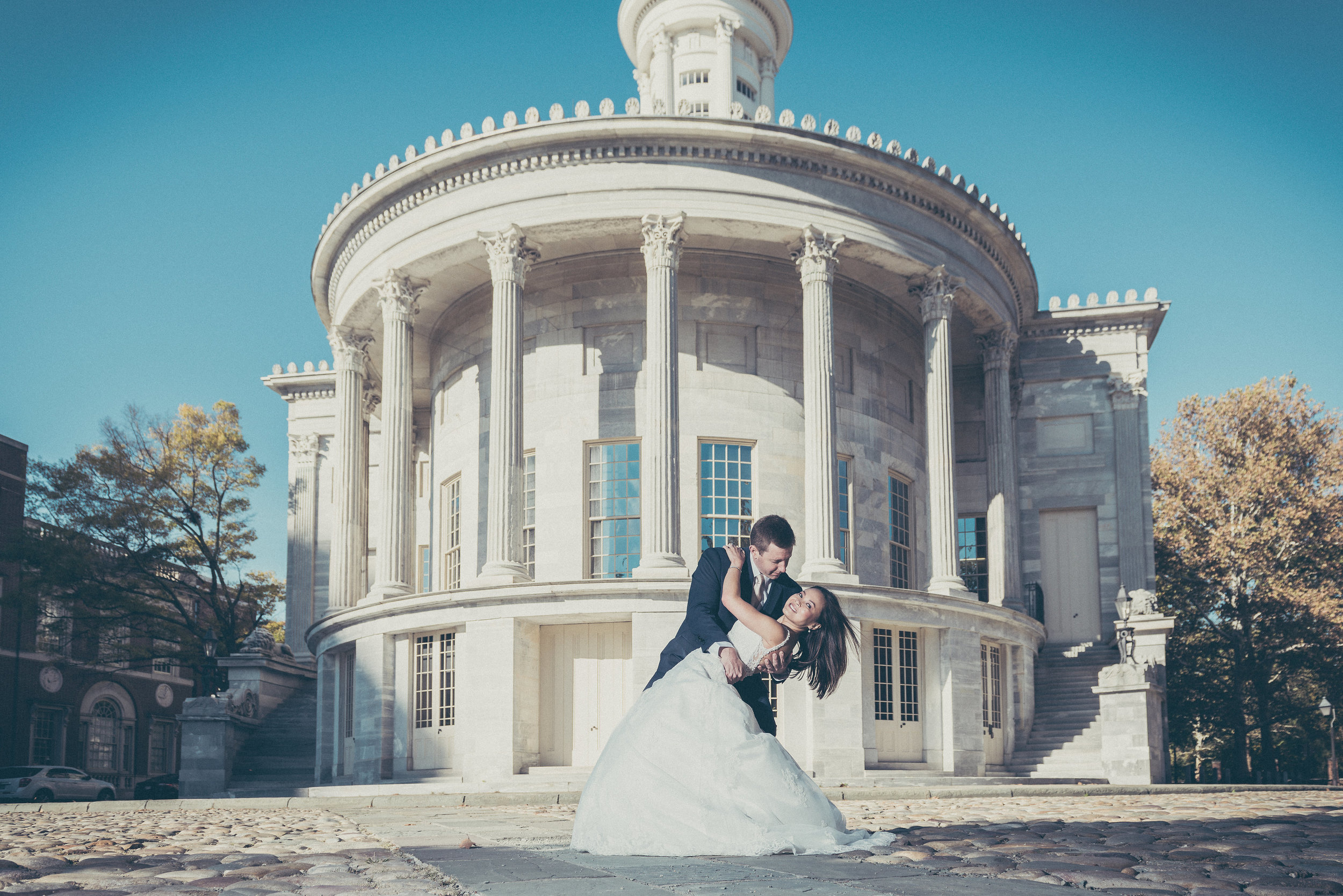 2nd bank of the US bride and groom