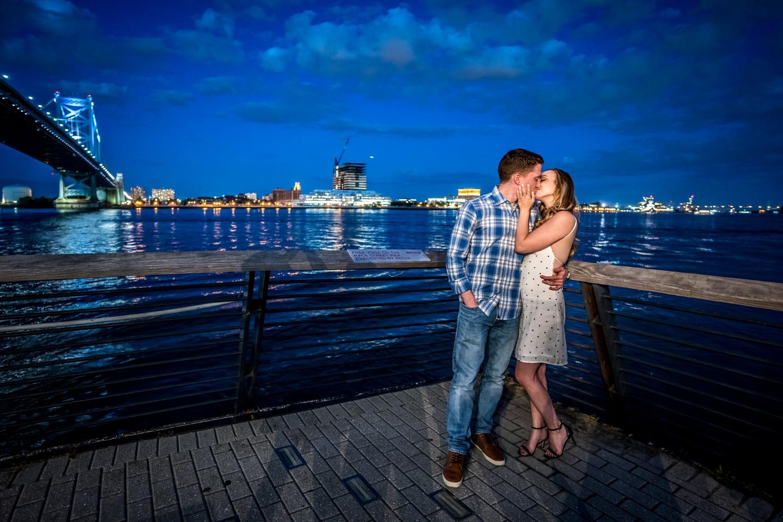 race-street-pier-blue-hour-engagement-shoot