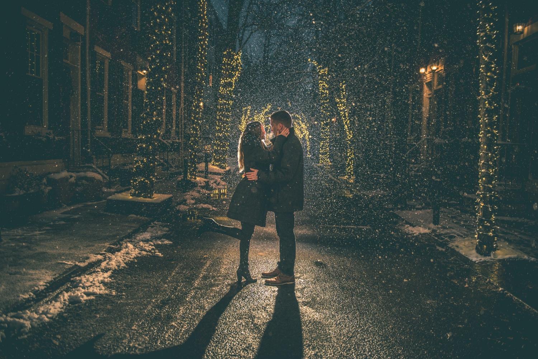 addison-street-night-engagement-session