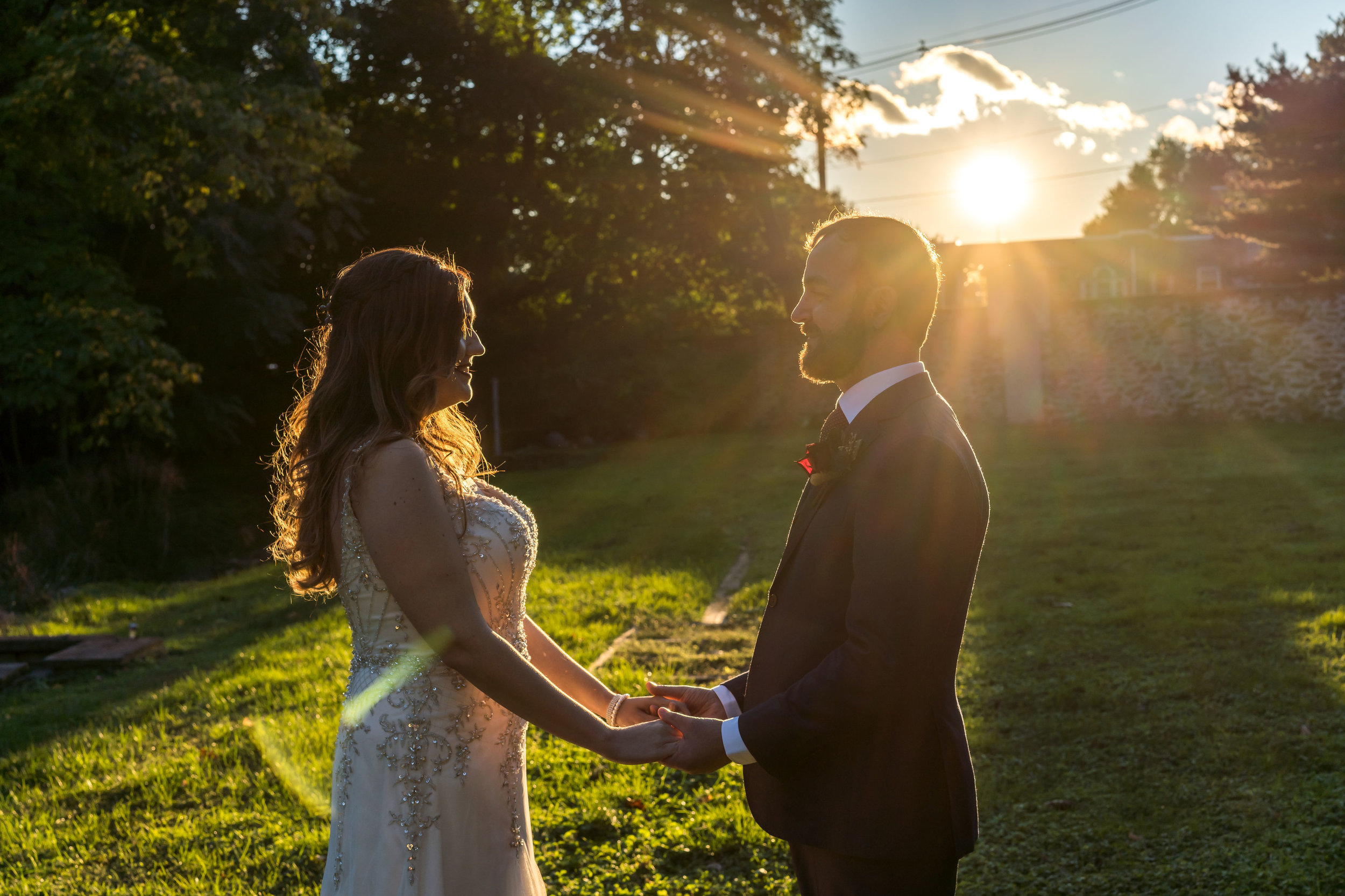 sunset-wedding-abington-art-center