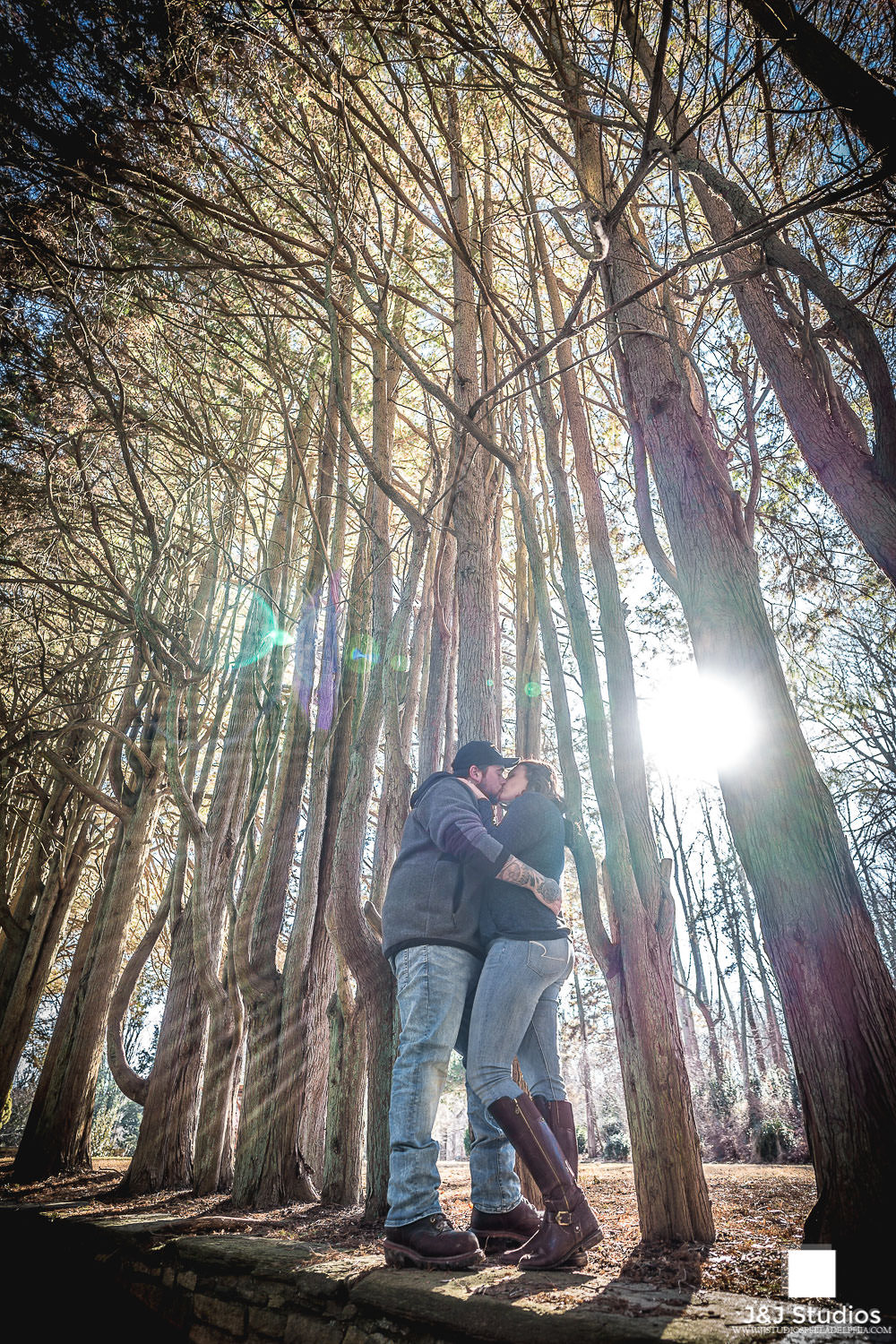 ridley-creek-state-park-sunset-engagement-session