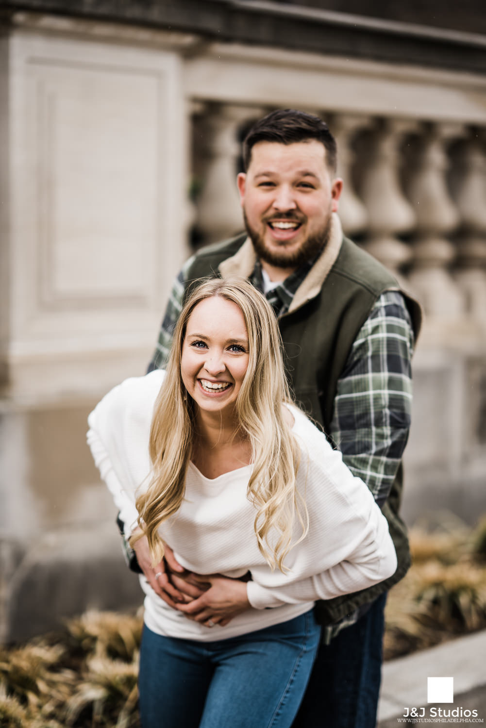 Schuylkill Banks engagement session with philly couple