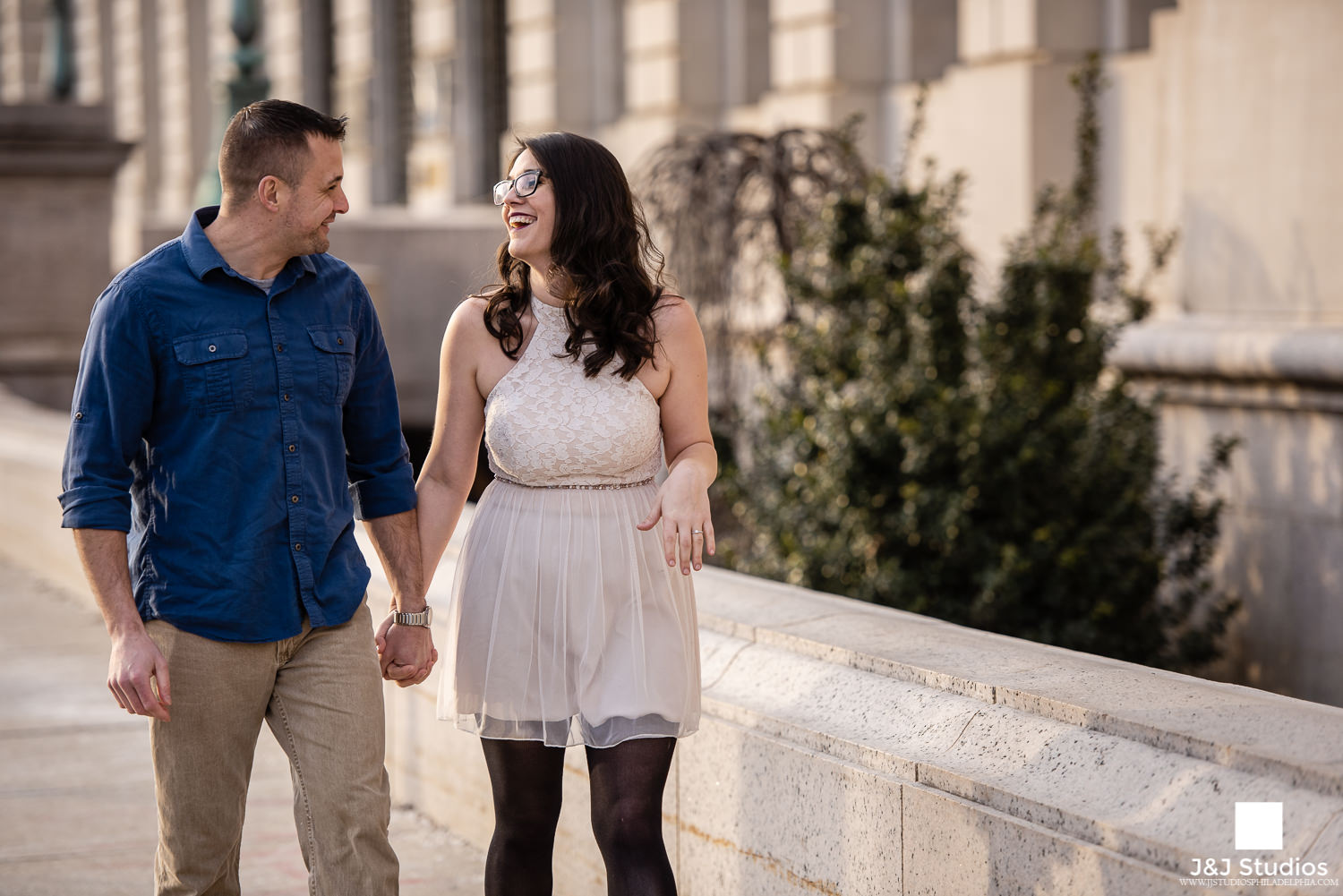 free library of philly walking engagement photos