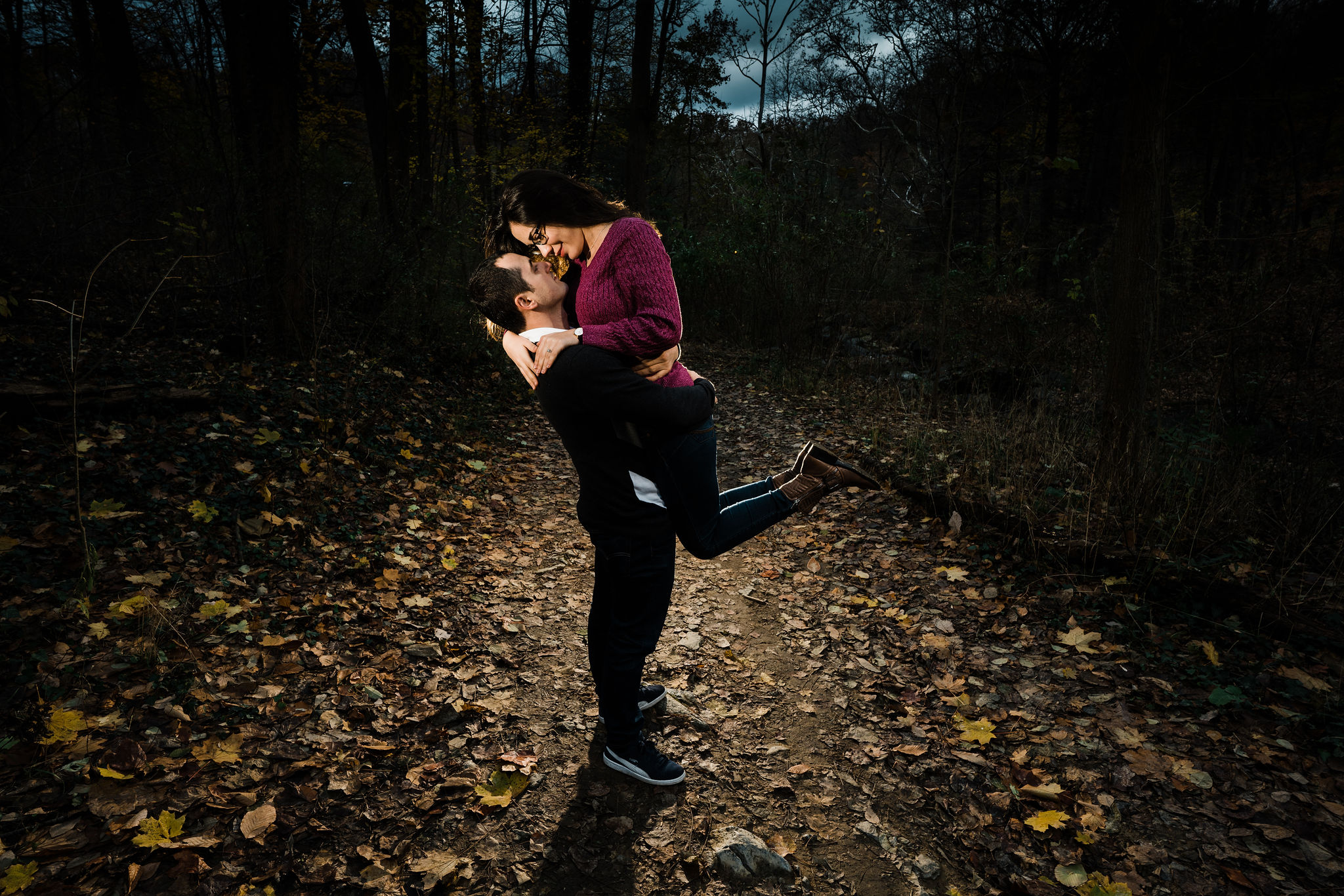 forbidden drive engagement session philadelphia