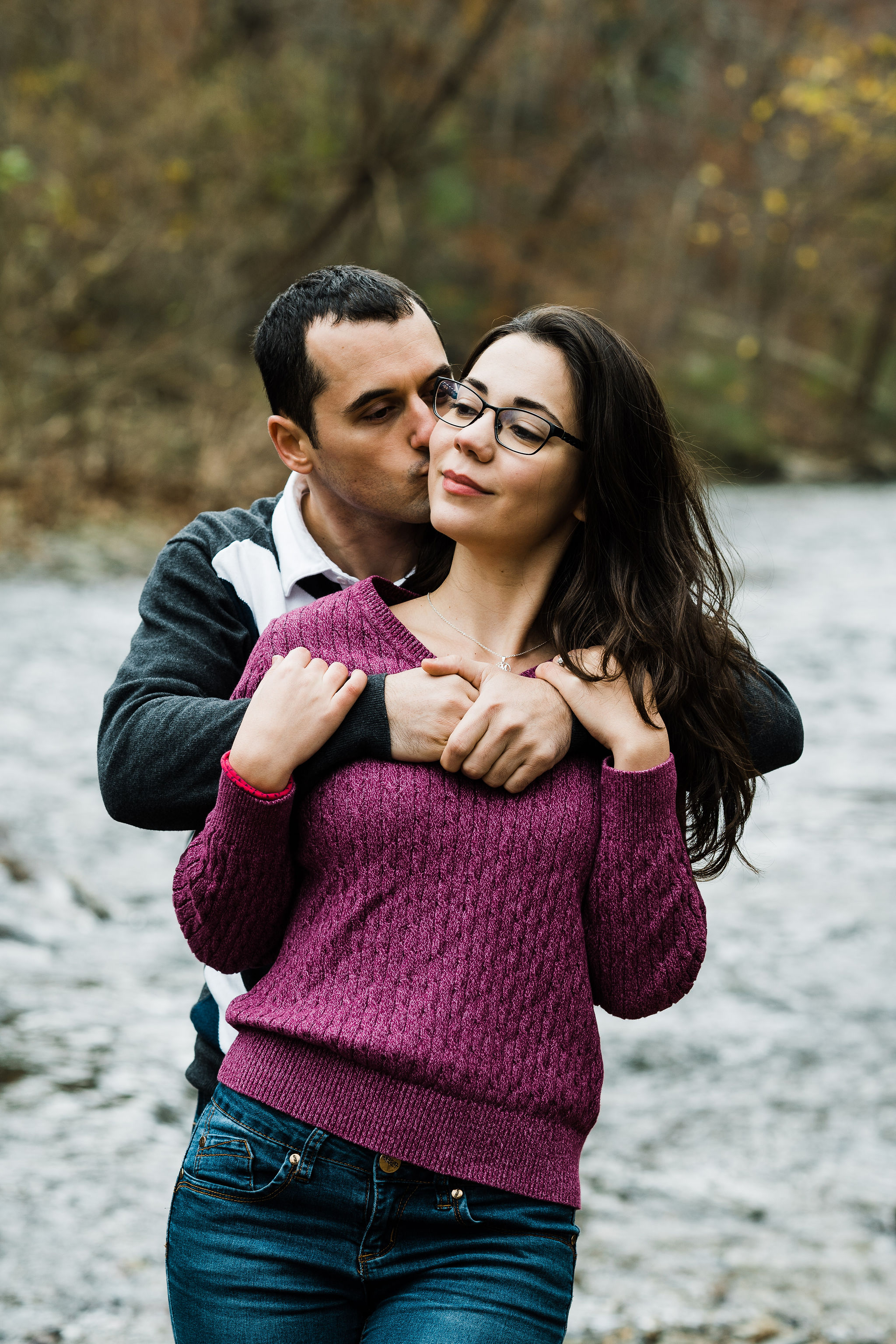 Wissahickon Valley Park engagement portraits
