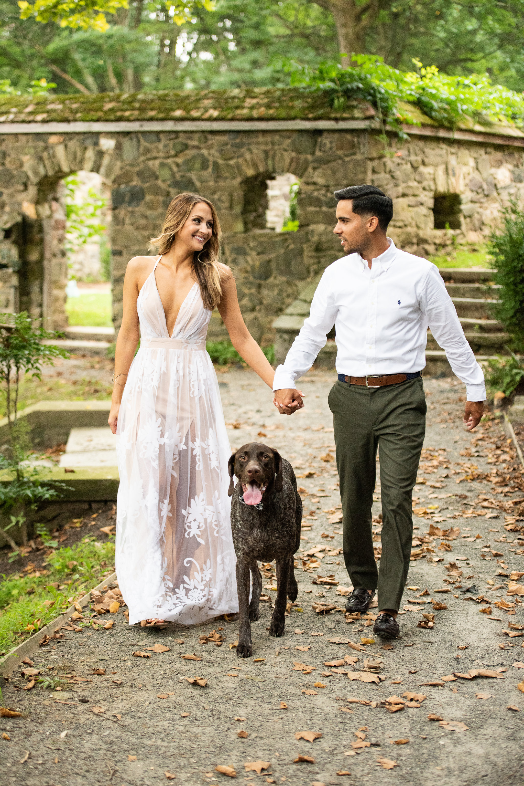 hunting hill mansion engagement portraits