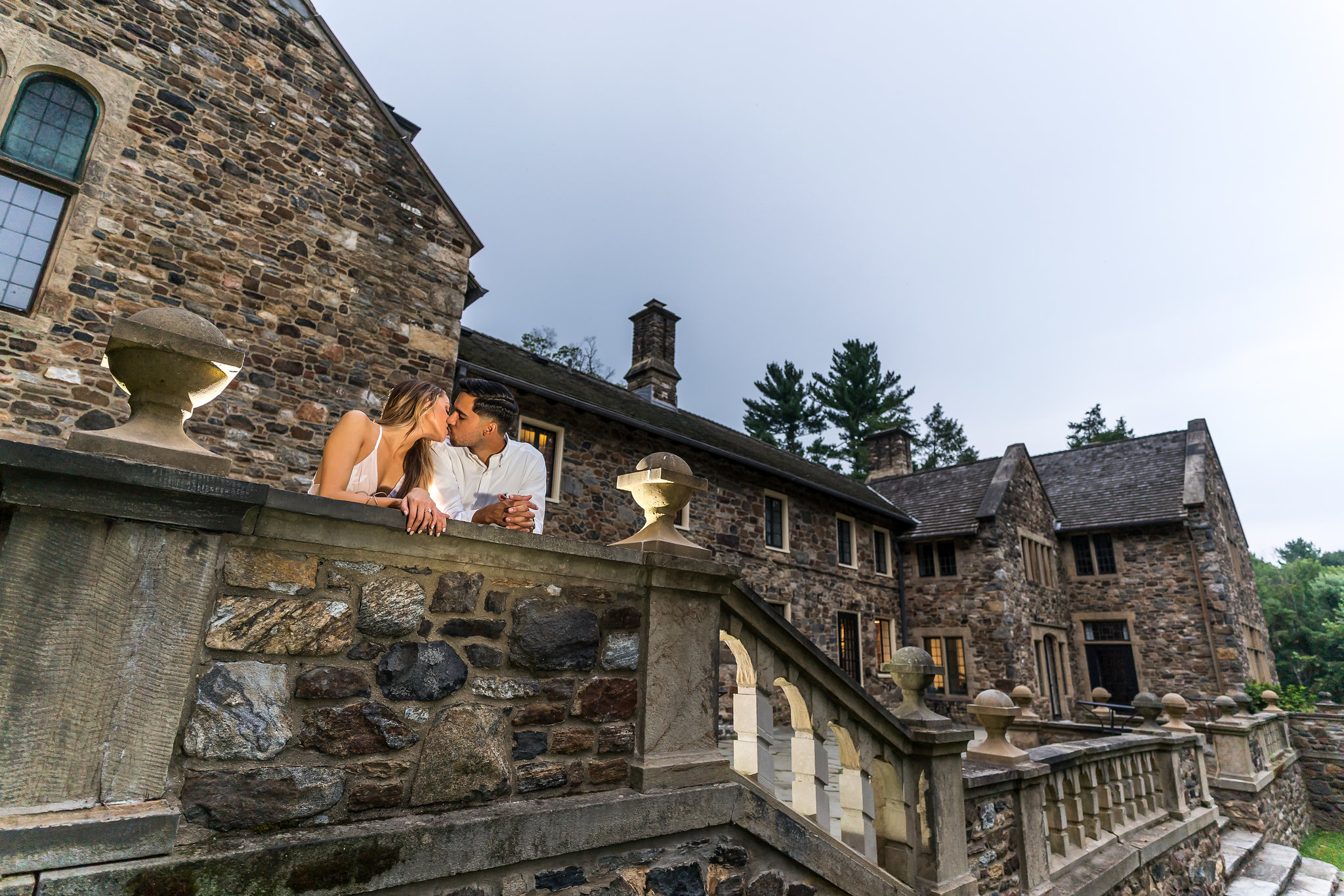 hunting hill mansion engagement photography