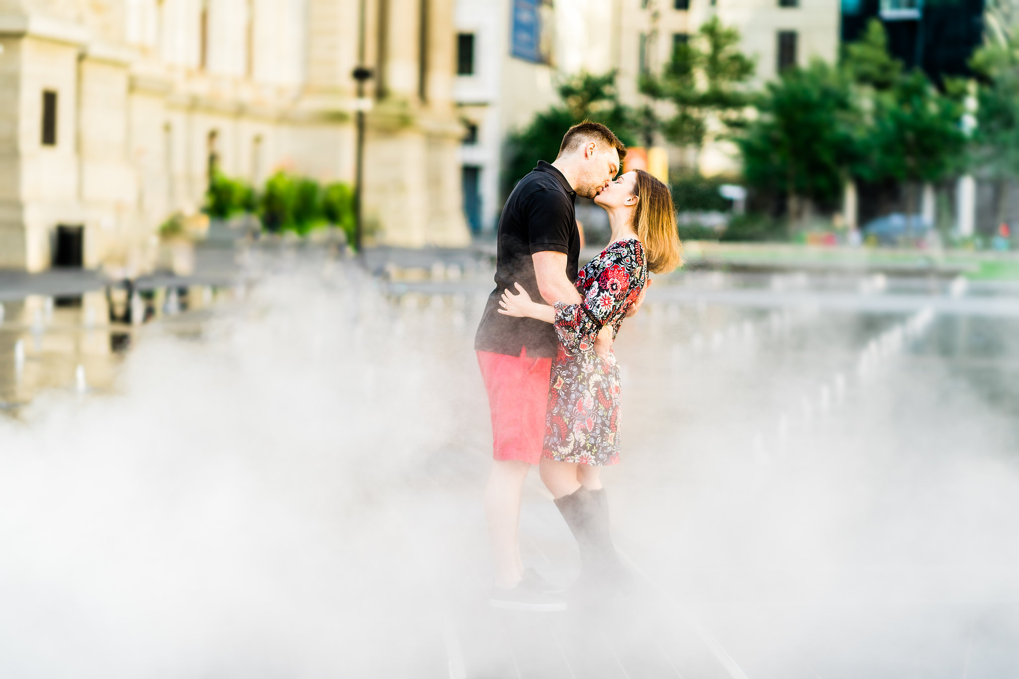 dilworth park engagement photos