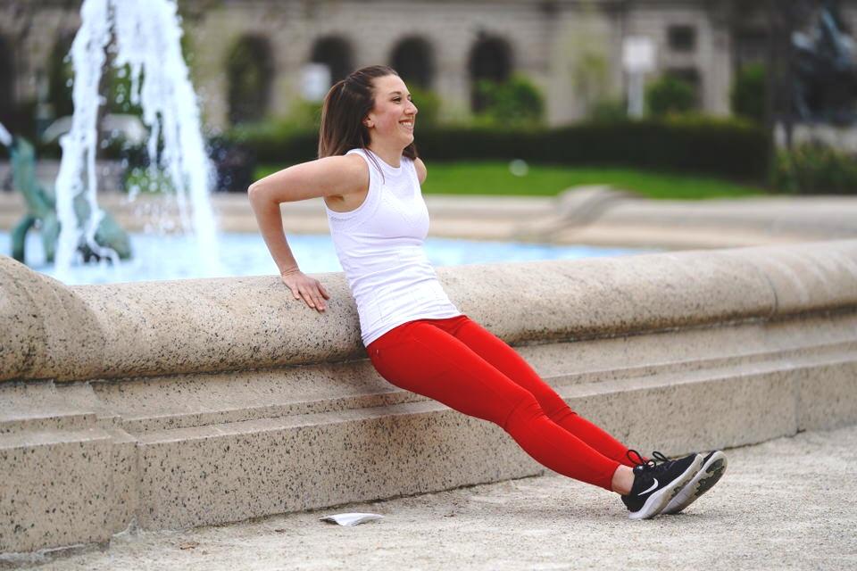 tricep dips amanda ryan fitness