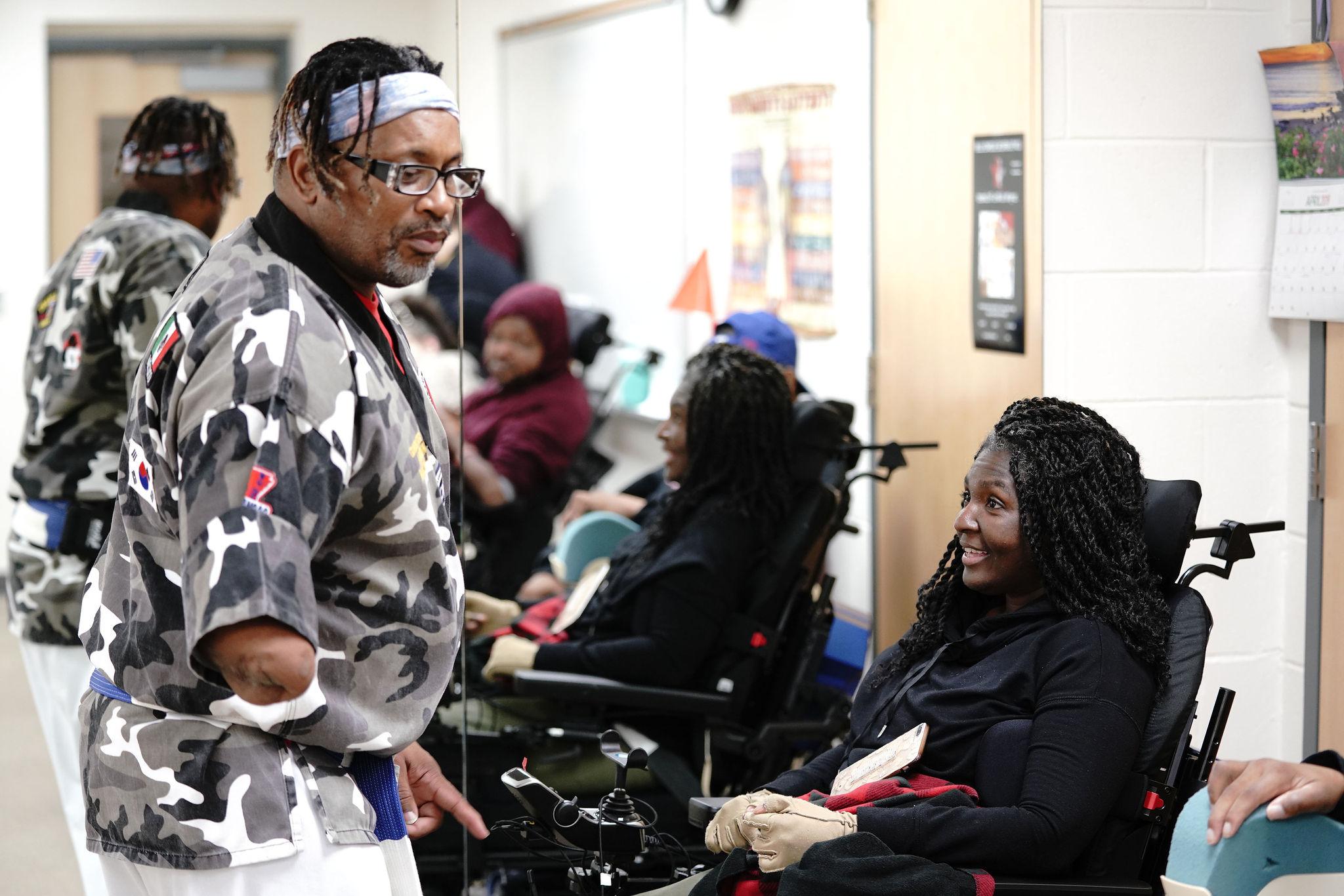 wheelchair self defense class