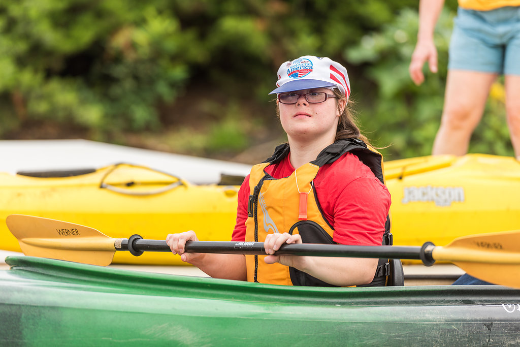 down syndrome wheelchair canoe kayaking