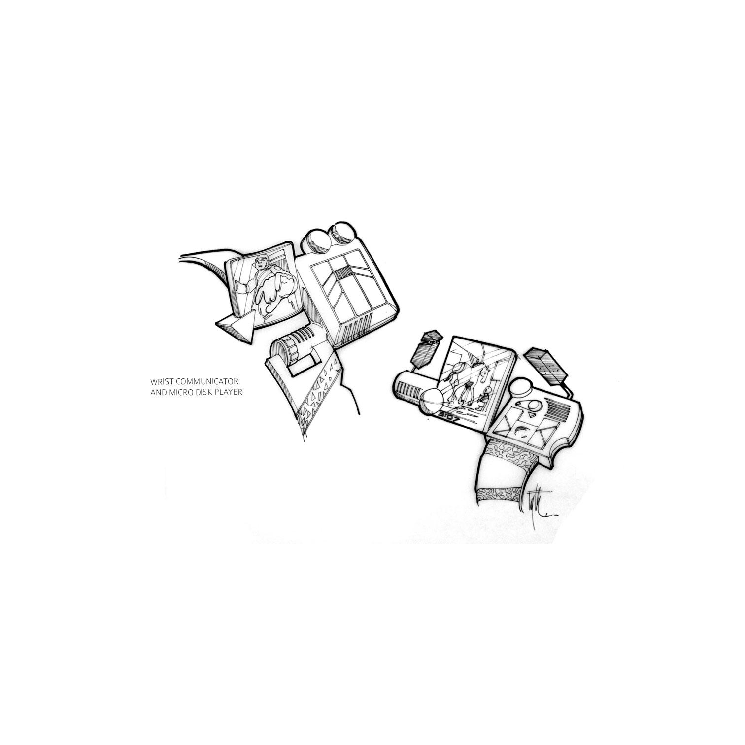 Wrist Communicator / Micro Disk Player